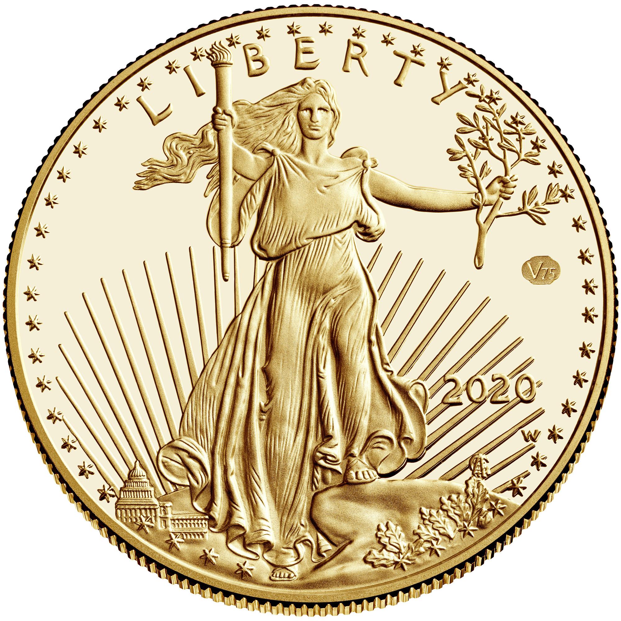 sample image for 2020-W Gold Eagle $50  PR DCAM v75 Privy WWII Anniversary
