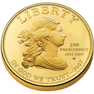 sample image for 2007-W Jeffersons Liberty $10  MS