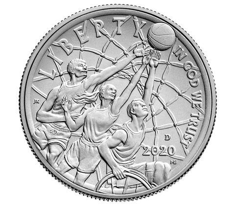 sample image for 2020-D Basketball Hall of Fame 50c MS