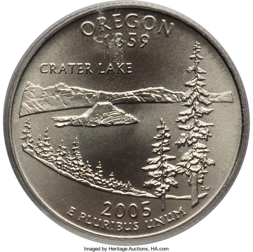 sample image for 2005-P Oregon 25c SP Satin Finish
