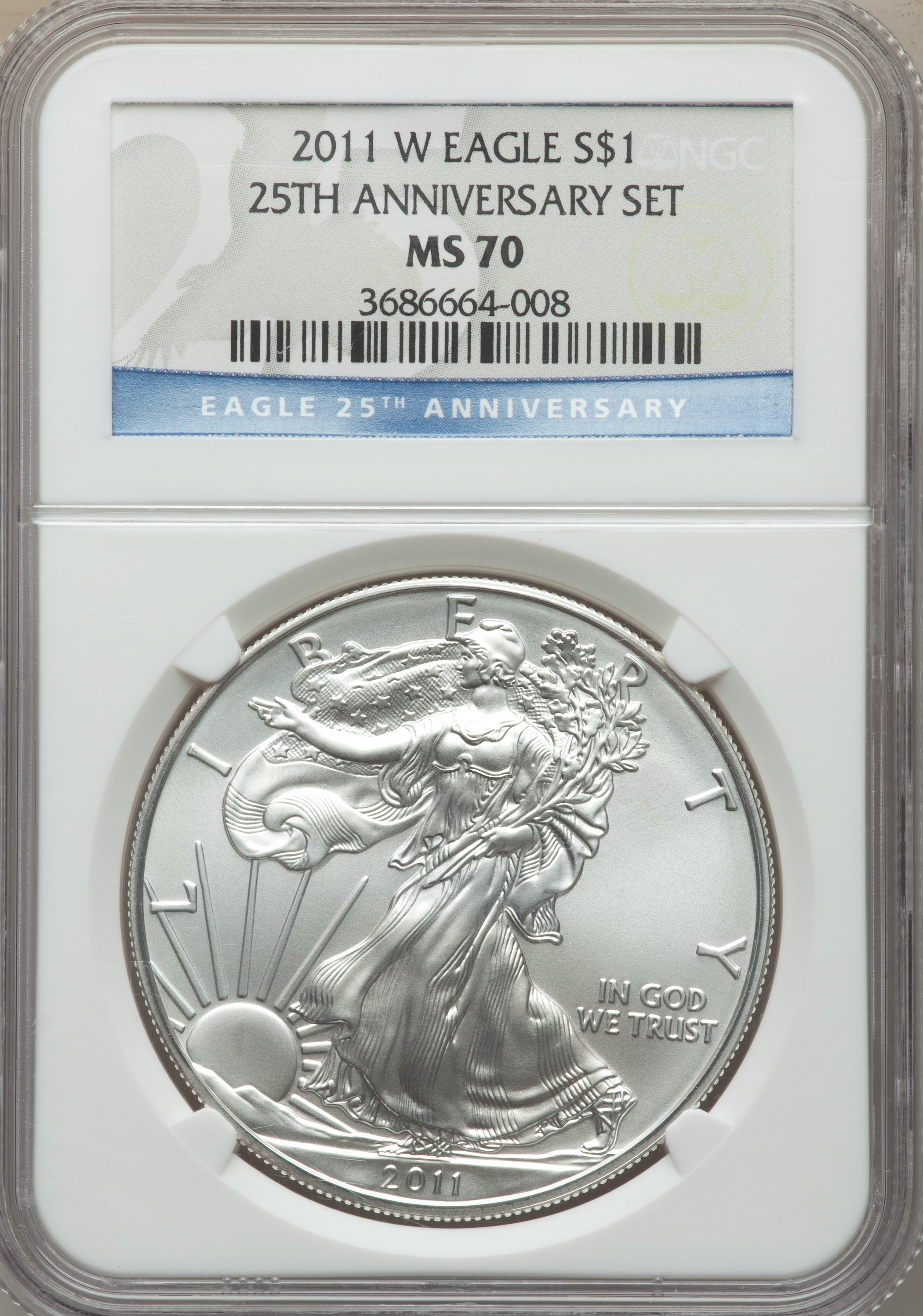 sample image for 2011-S Silver Eagle $1  MS 25th Anniversary