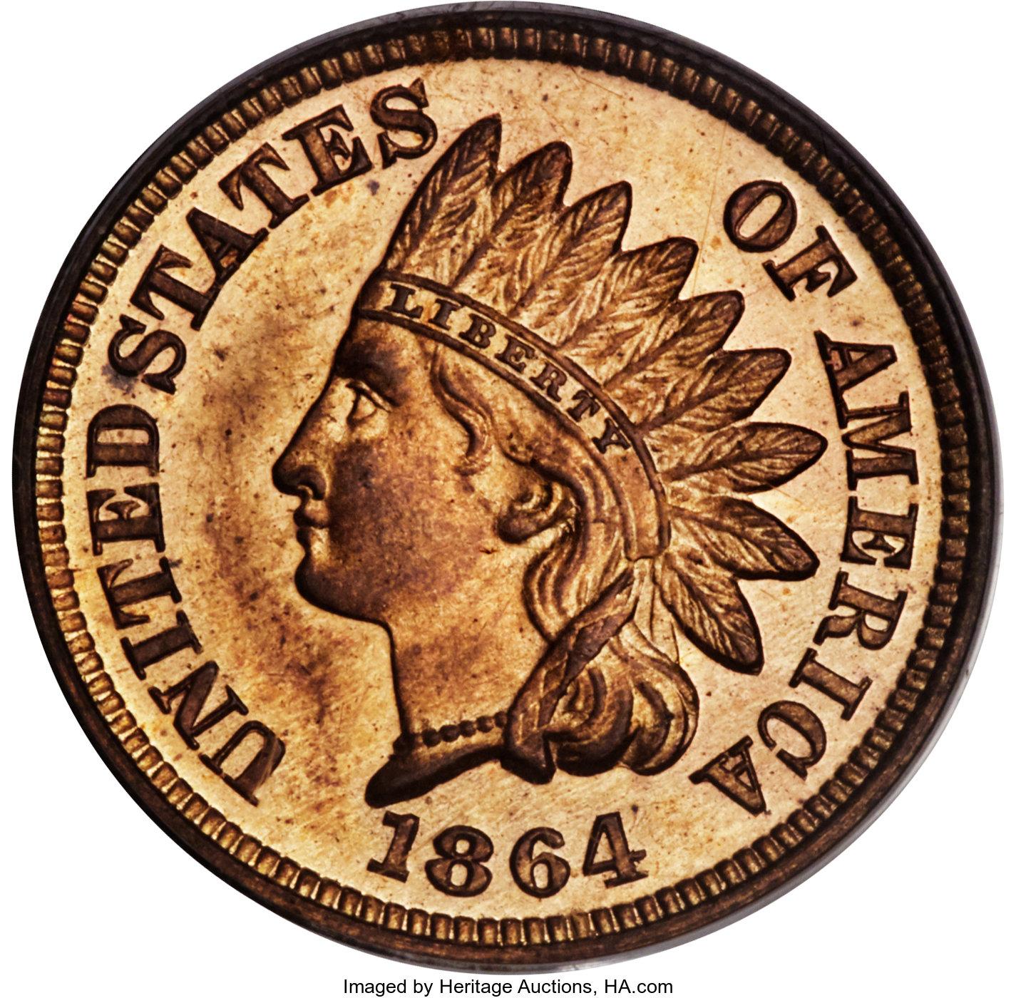 sample image for 1864 1c PR RD Bronze