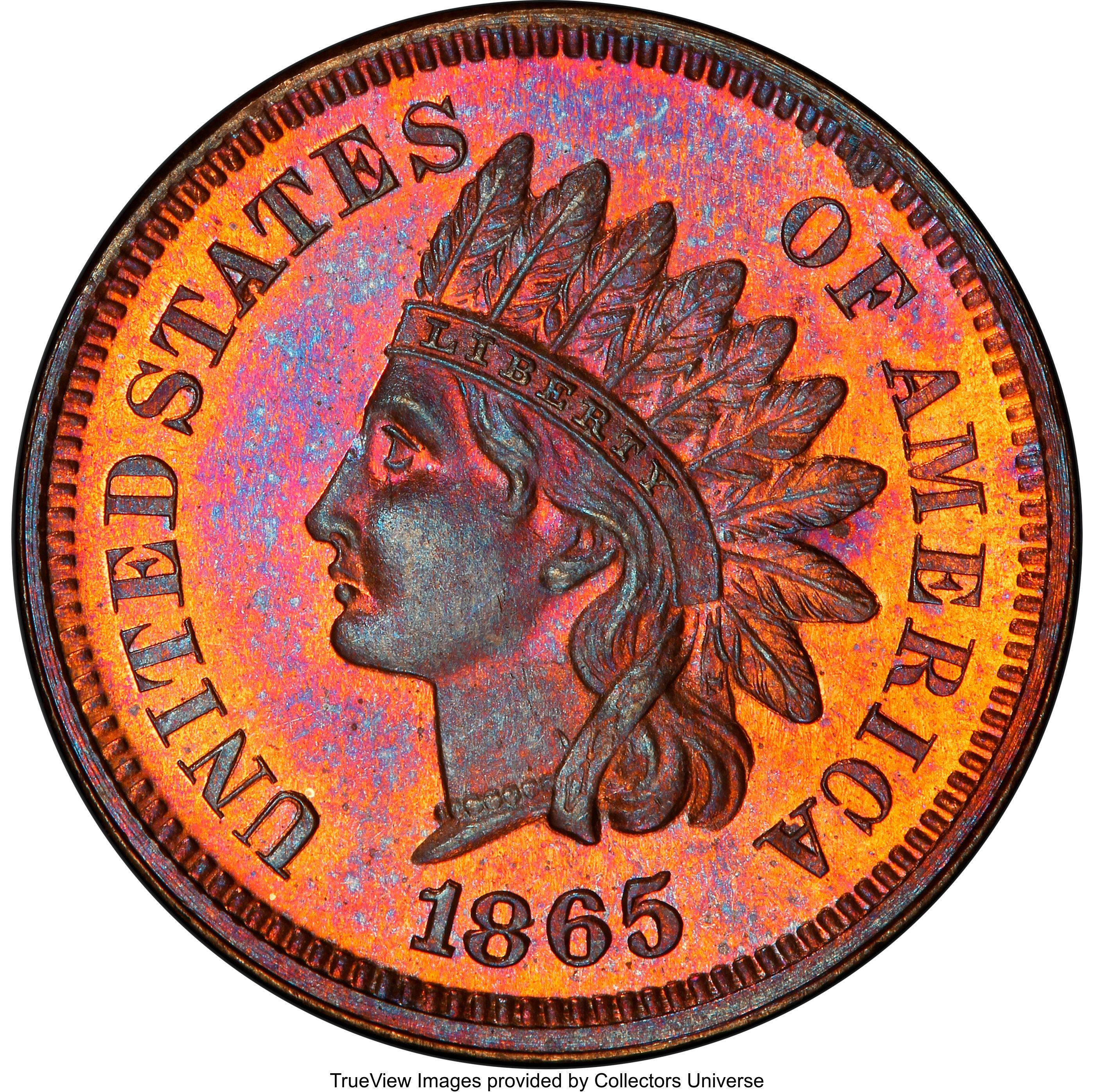 sample image for 1865 1c PR RB