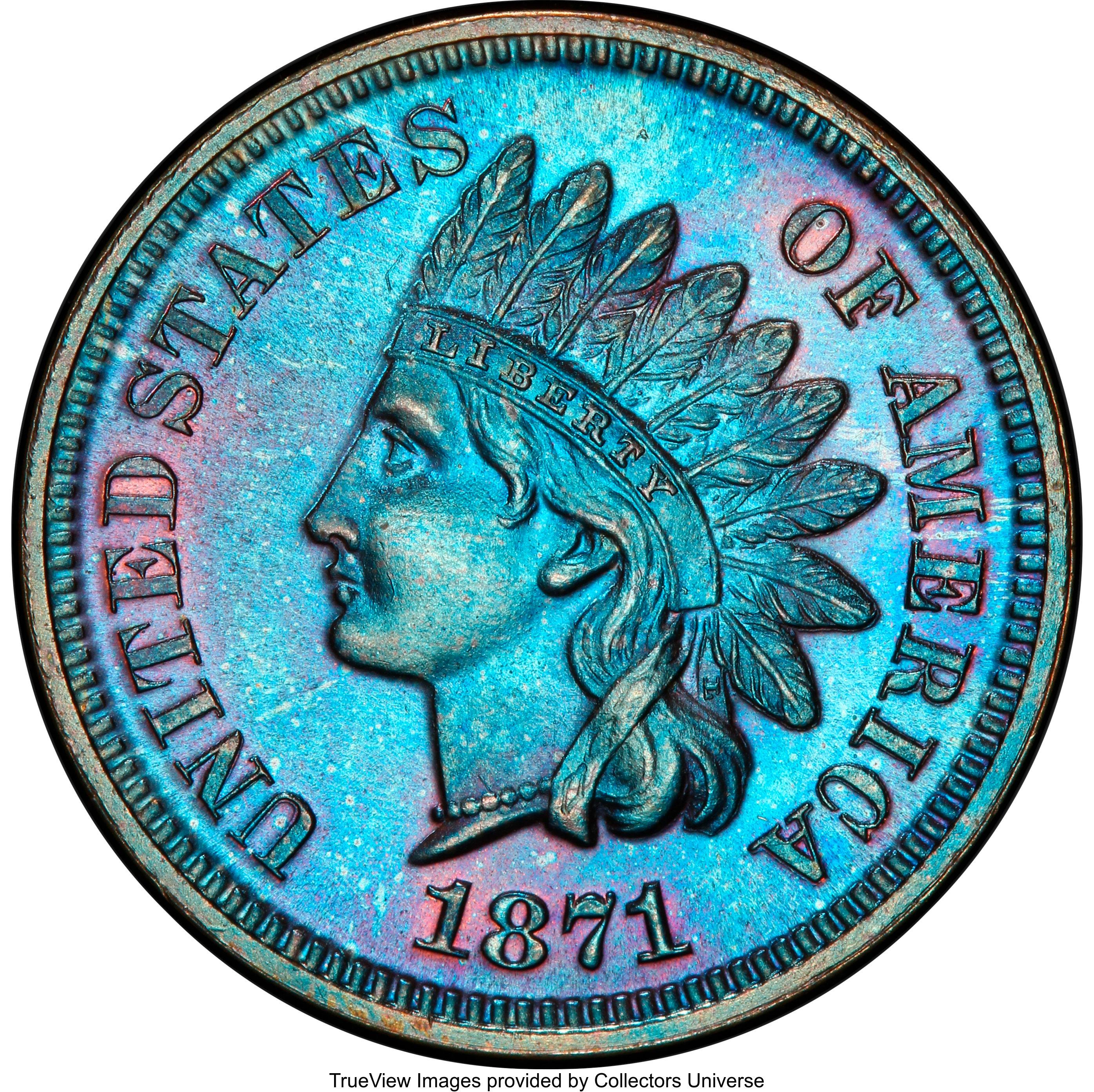 sample image for 1871 1c PR BN