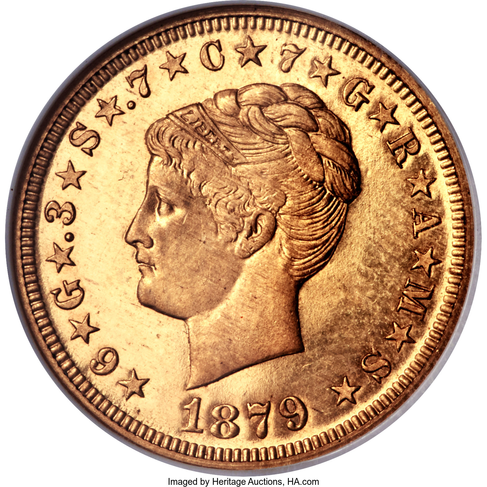 sample image for 1879-1880 Stella $4  PR CAM Coiled Hair [Type]