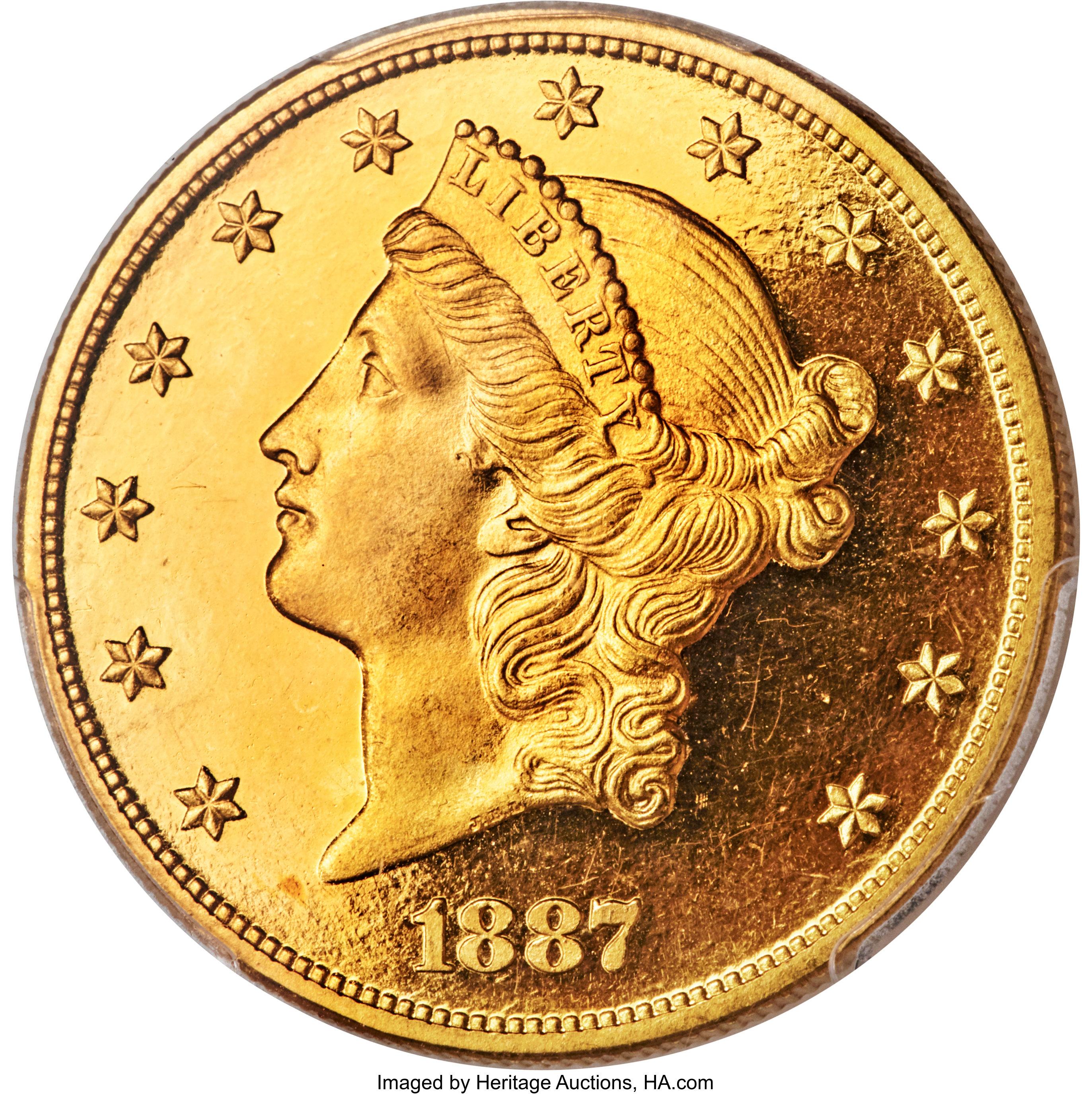 sample image for 1887 $20  PR DCAM