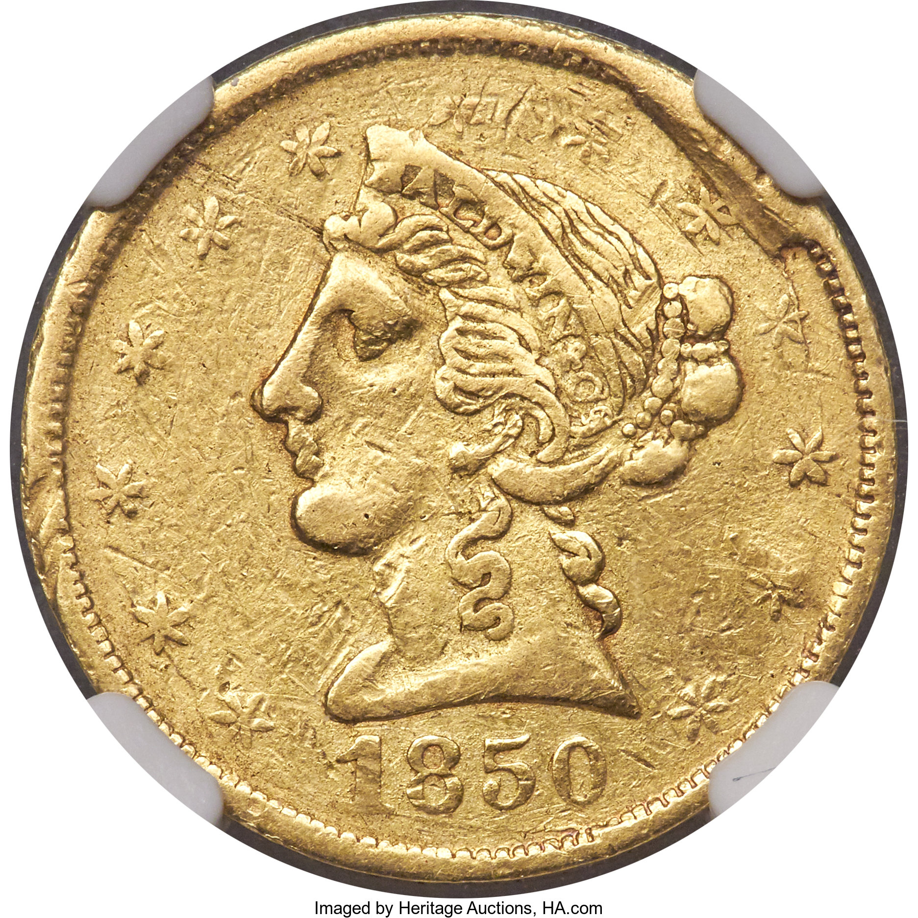 sample image for 1850 $5 Baldwin (K-2)