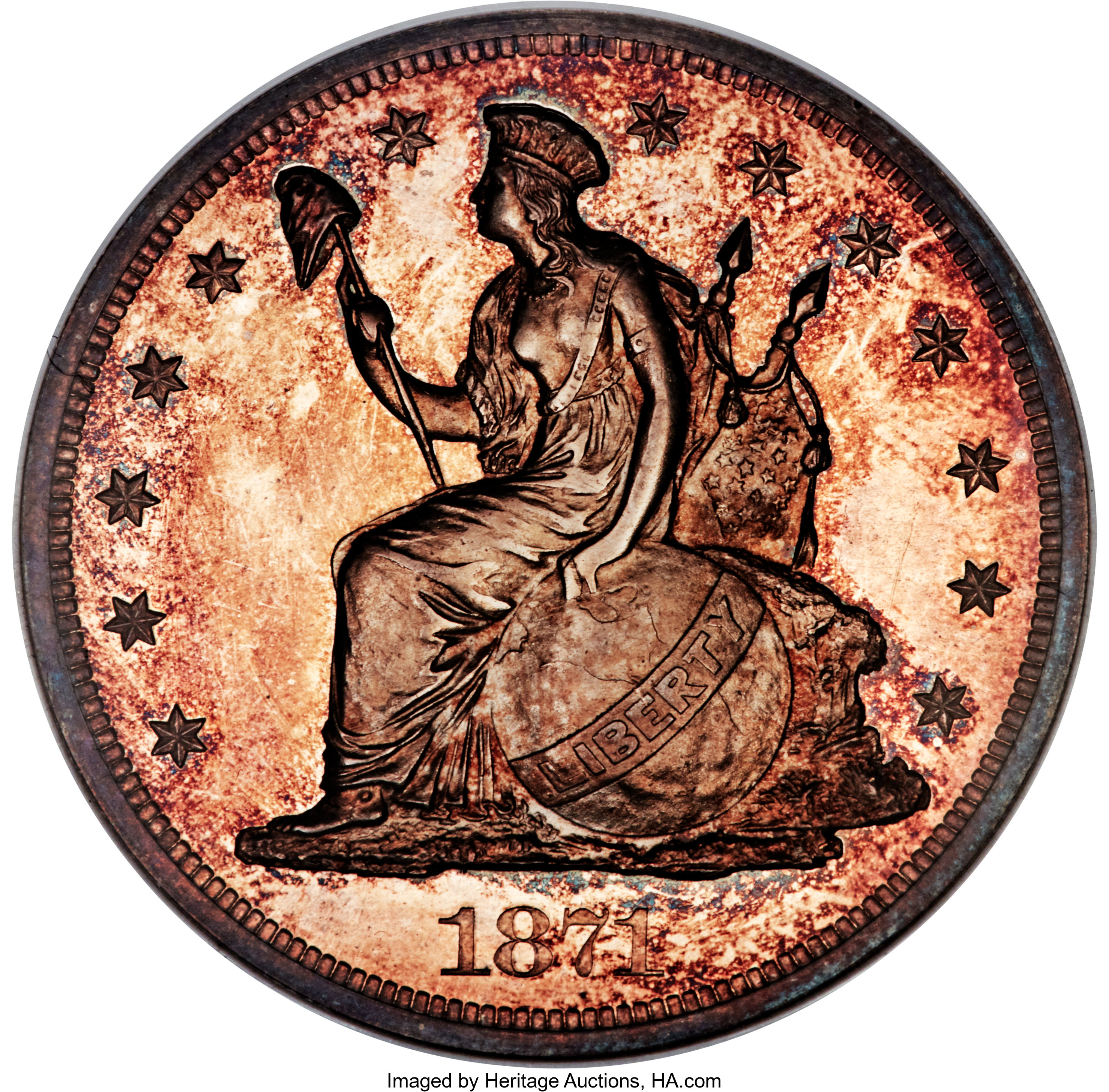 sample image for 1871 PT$1 (J-1154) PR