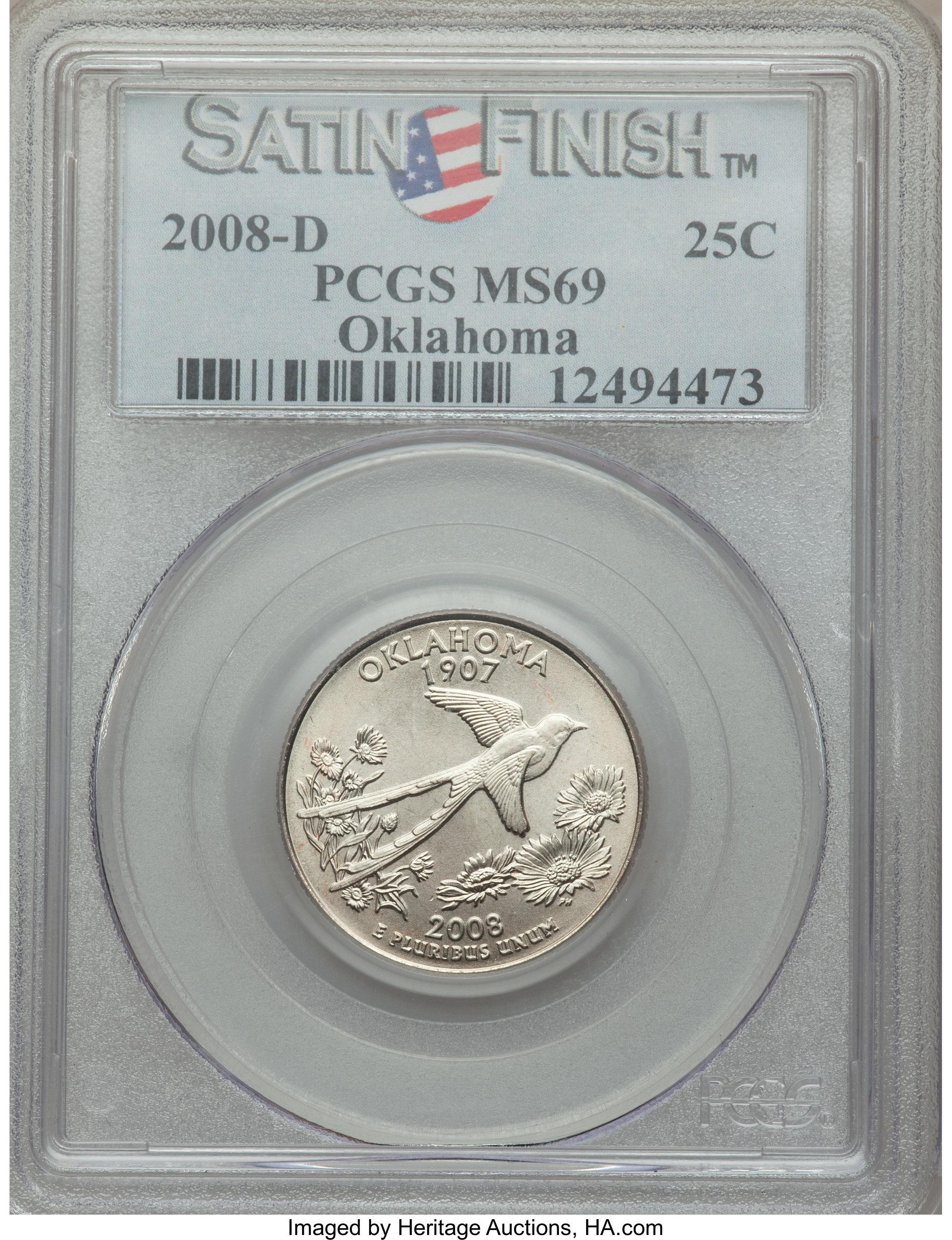 sample image for 2008-D Oklahoma 25c SP Satin Finish