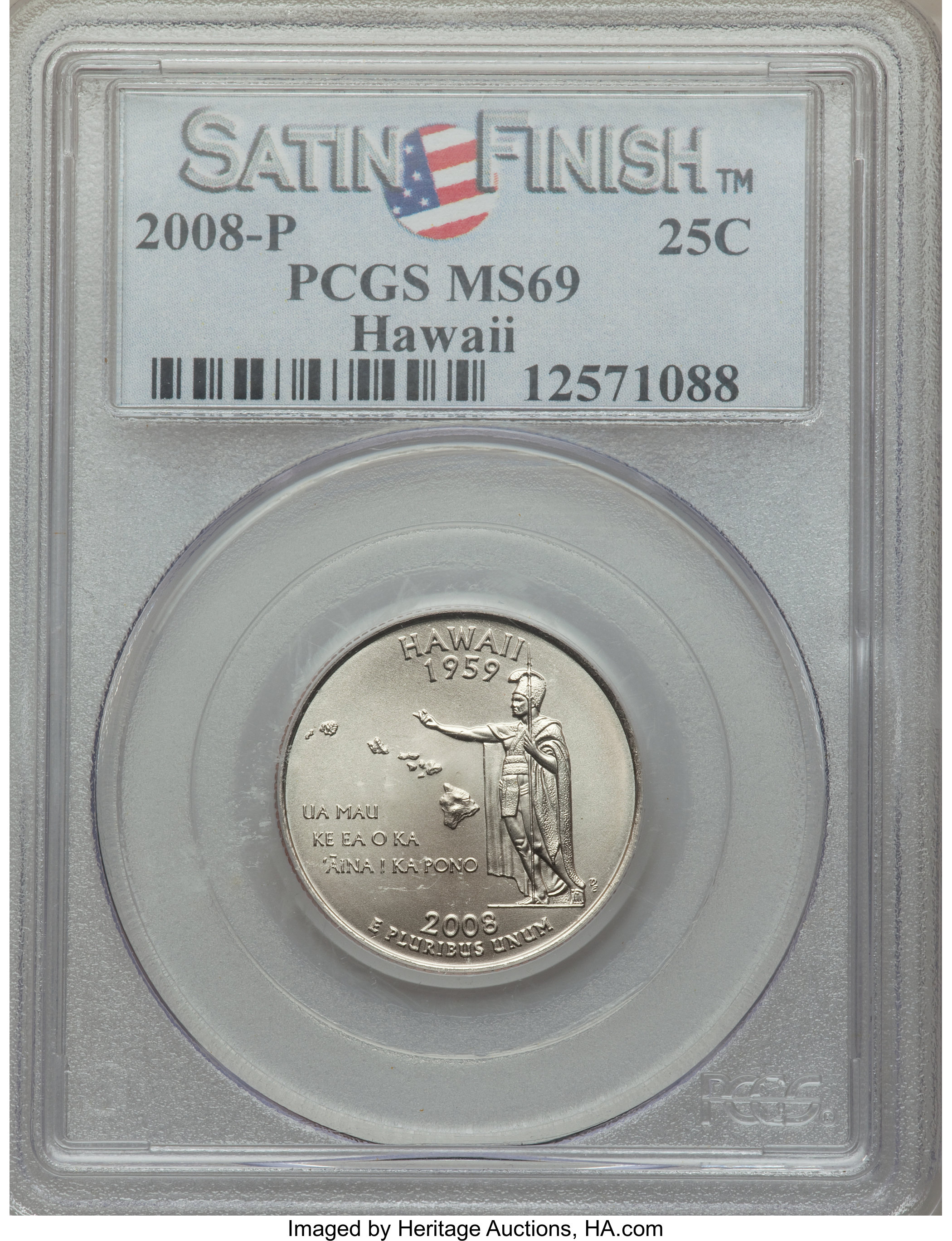 sample image for 2008-P Hawaii 25c SP Satin Finish