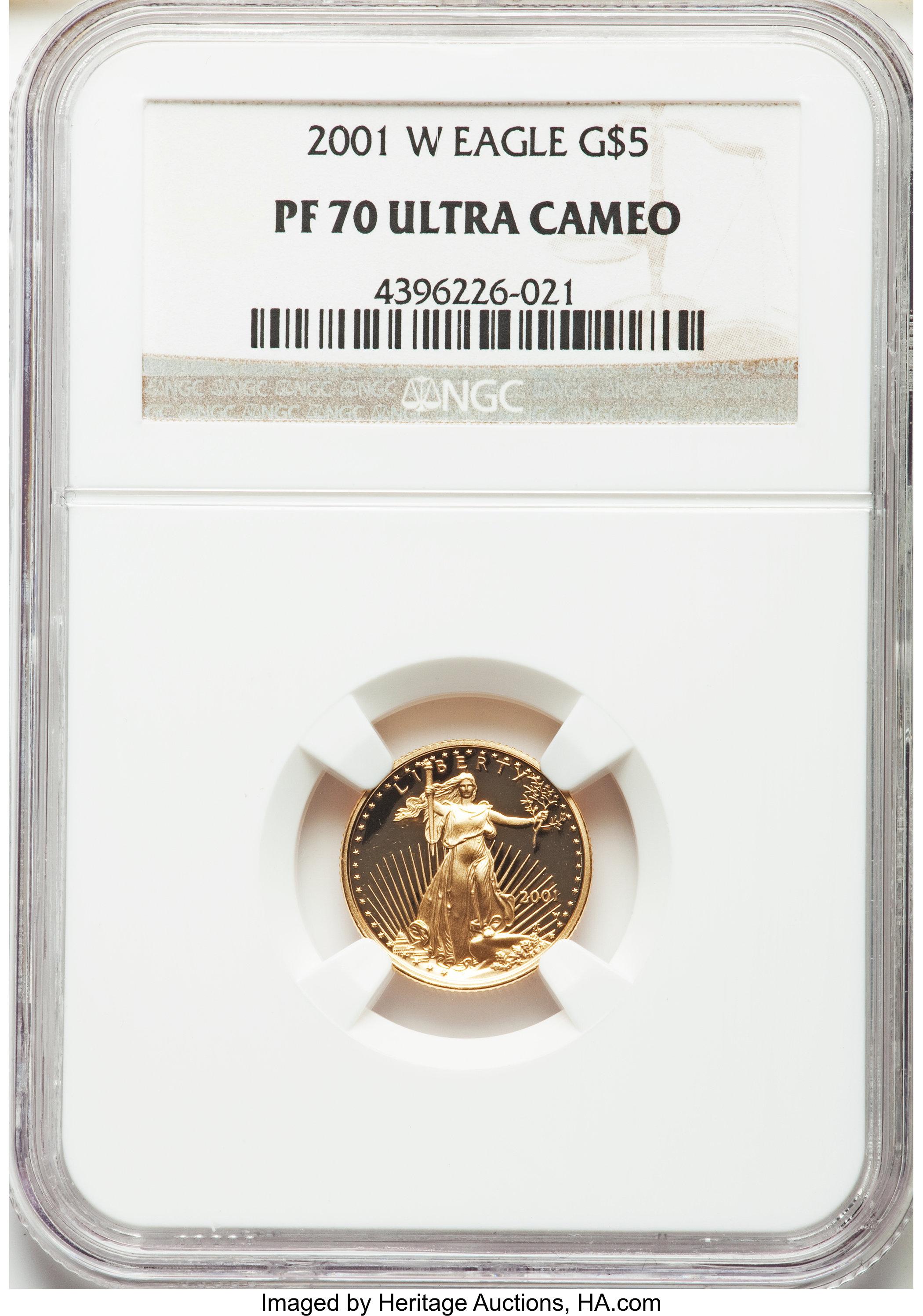sample image for 2001-W Gold Eagle $5  PR DCAM