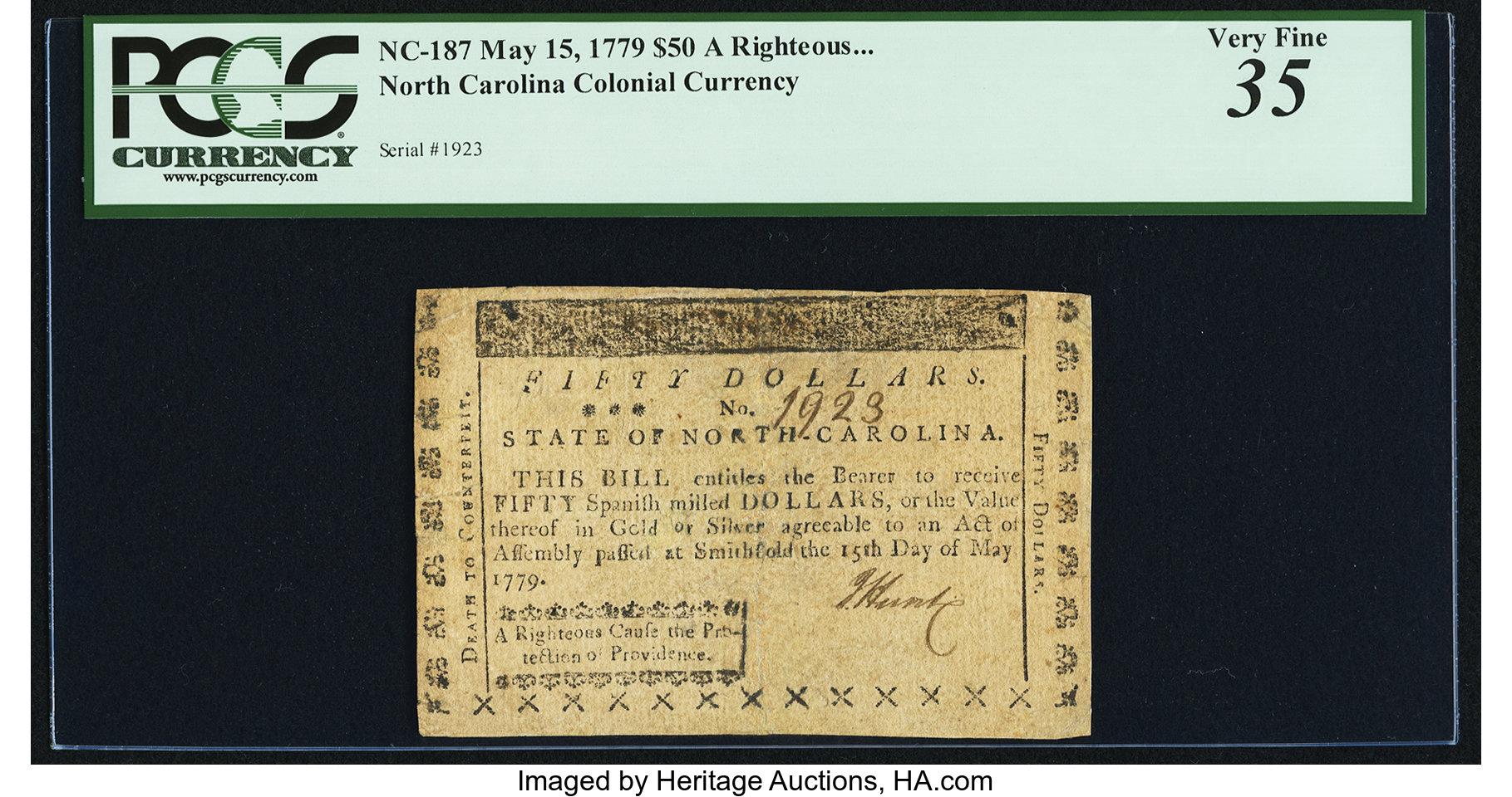 sample image for 1779 15-May $50  (Fr.# NC187)