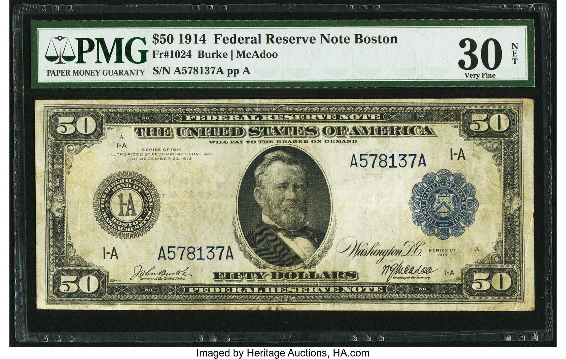 sample image for Fr.1024 $50 Boston