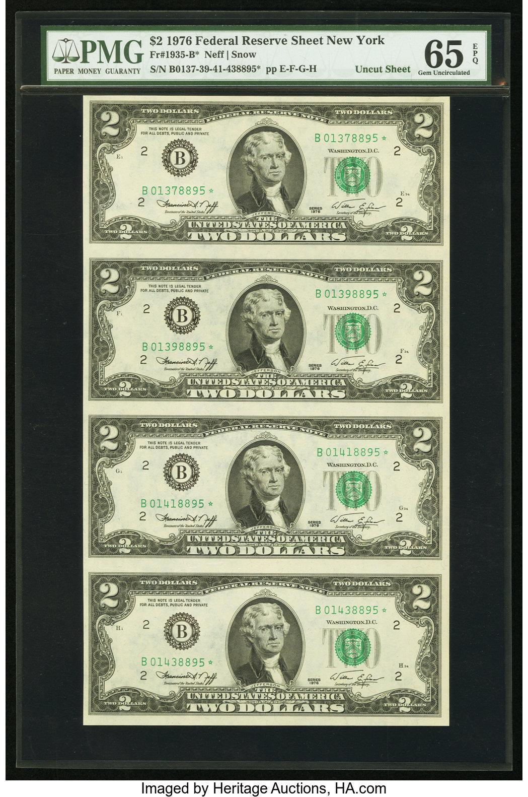 sample image for 1976 $2  New York (Fr.# 1935B*)