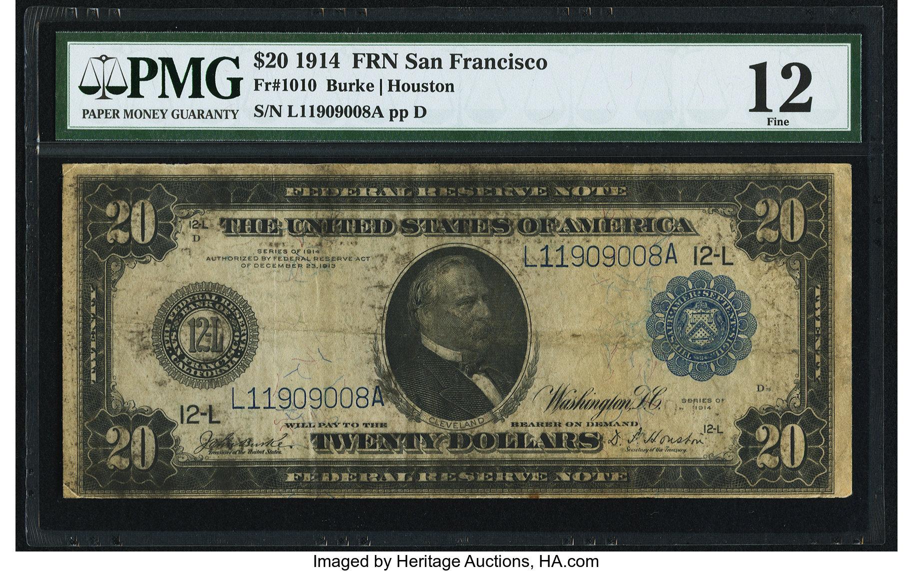 sample image for Fr.1010 $20 SF