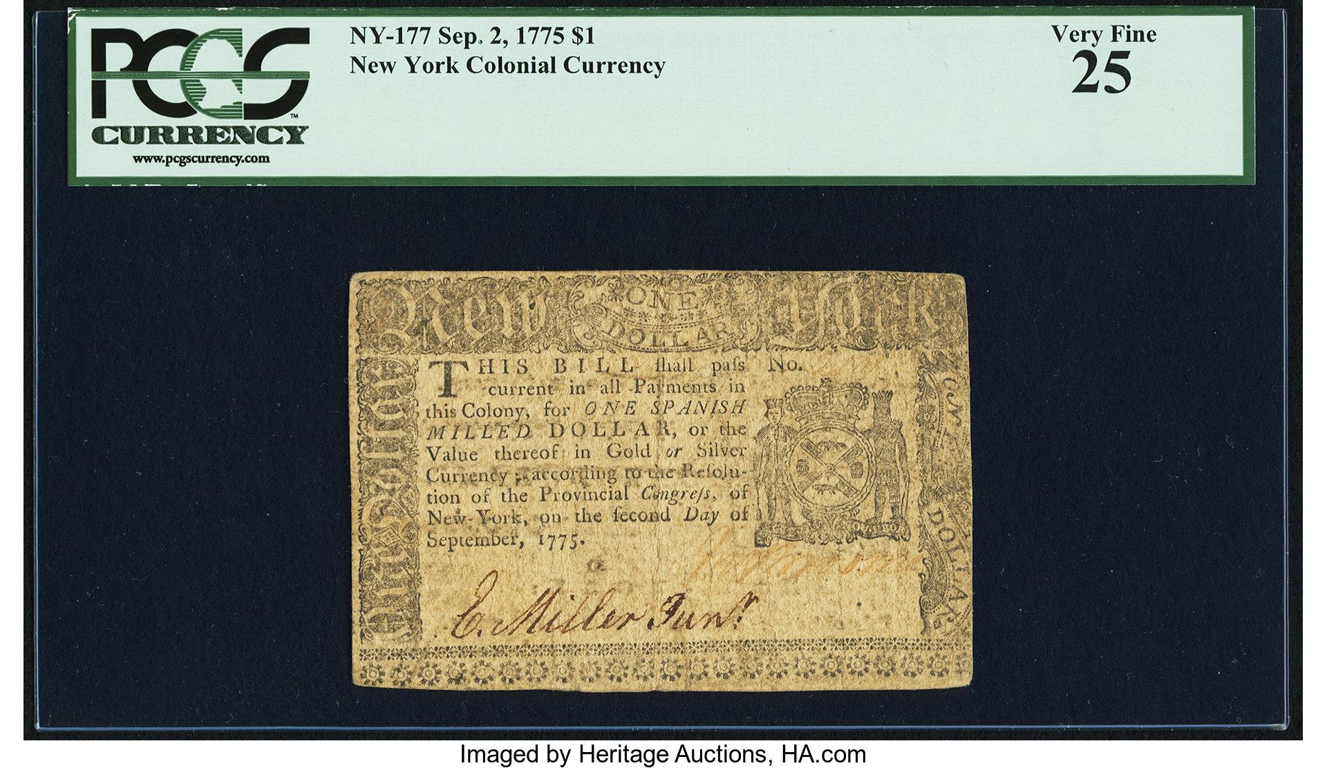 sample image for 1775 2-Sep $1  (Fr.# NY177)