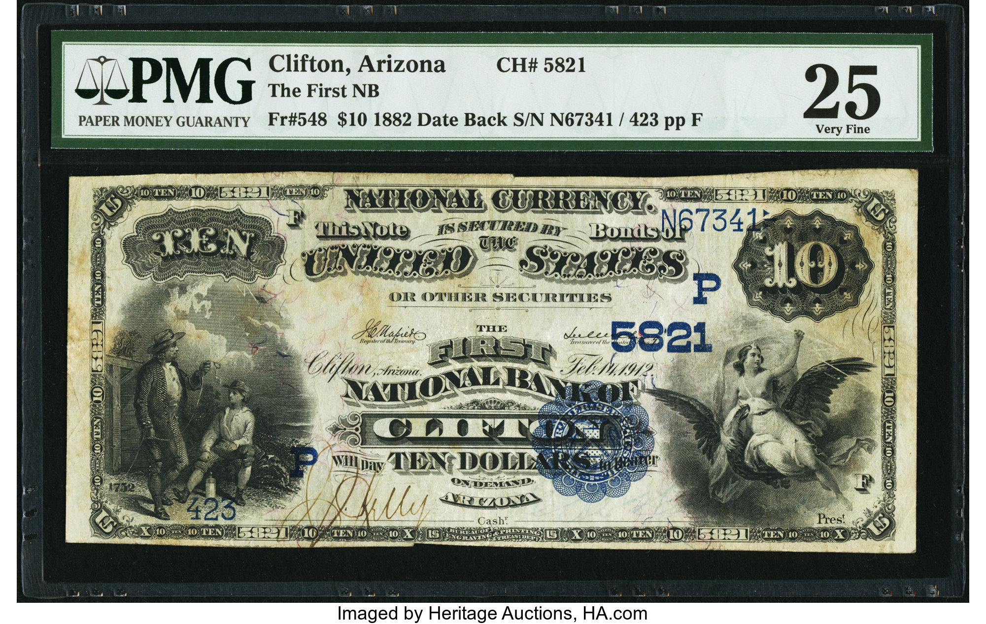 sample image for 1882 2nd Charter Period $10  Date Back 2nd Issue (Fr.# 548)