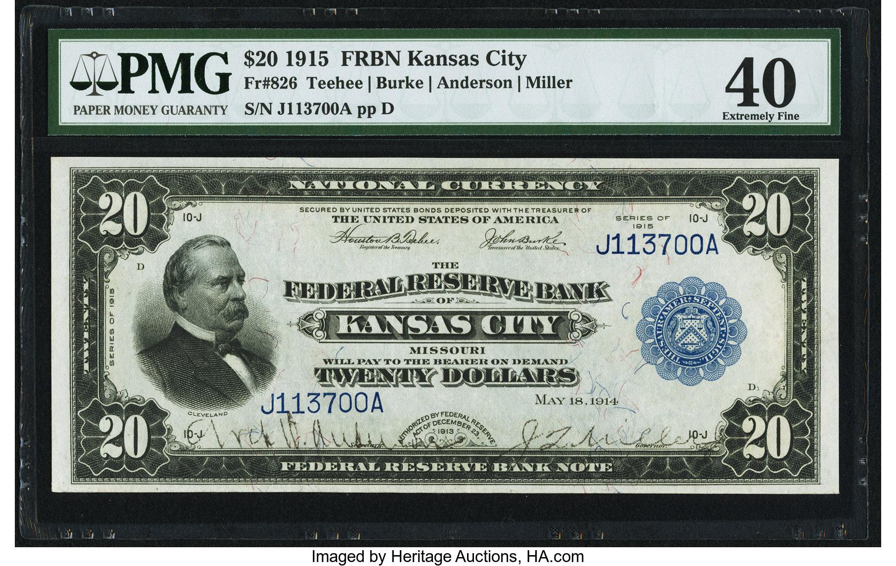 sample image for 1915 $20  Kansas City (Fr.# 826)