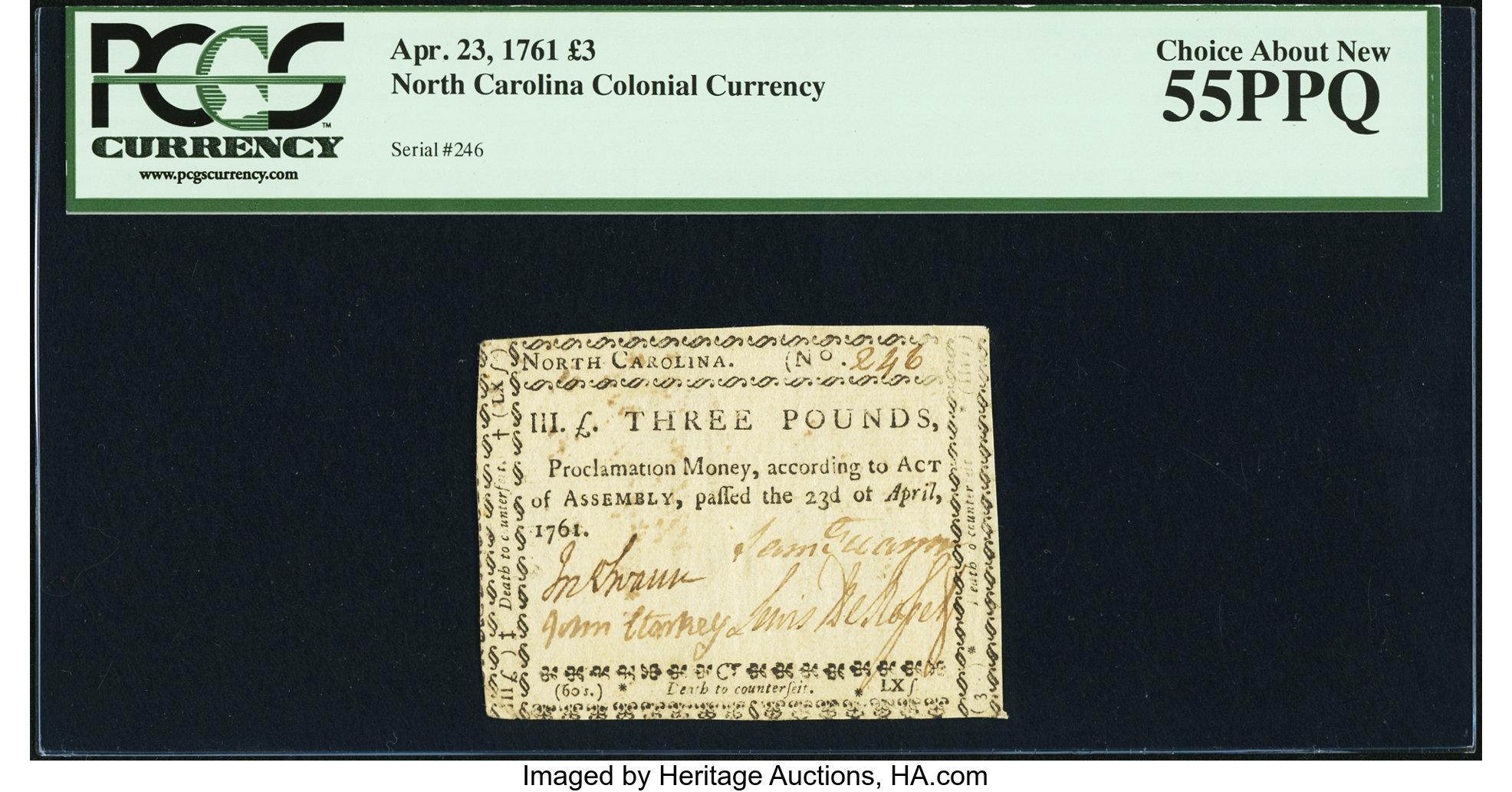 sample image for 1761 23-Apr £3 (Fr.# NC127)