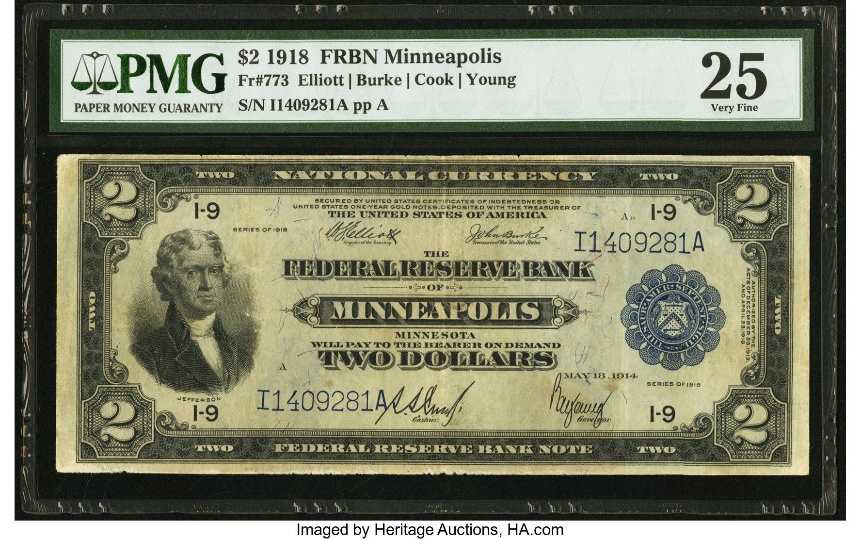 sample image for 1918 $2  Minneapolis (Fr.# 773)