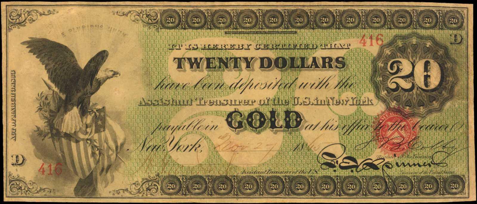 sample image for 1875 $100  Oakland (Fr.# 1166)