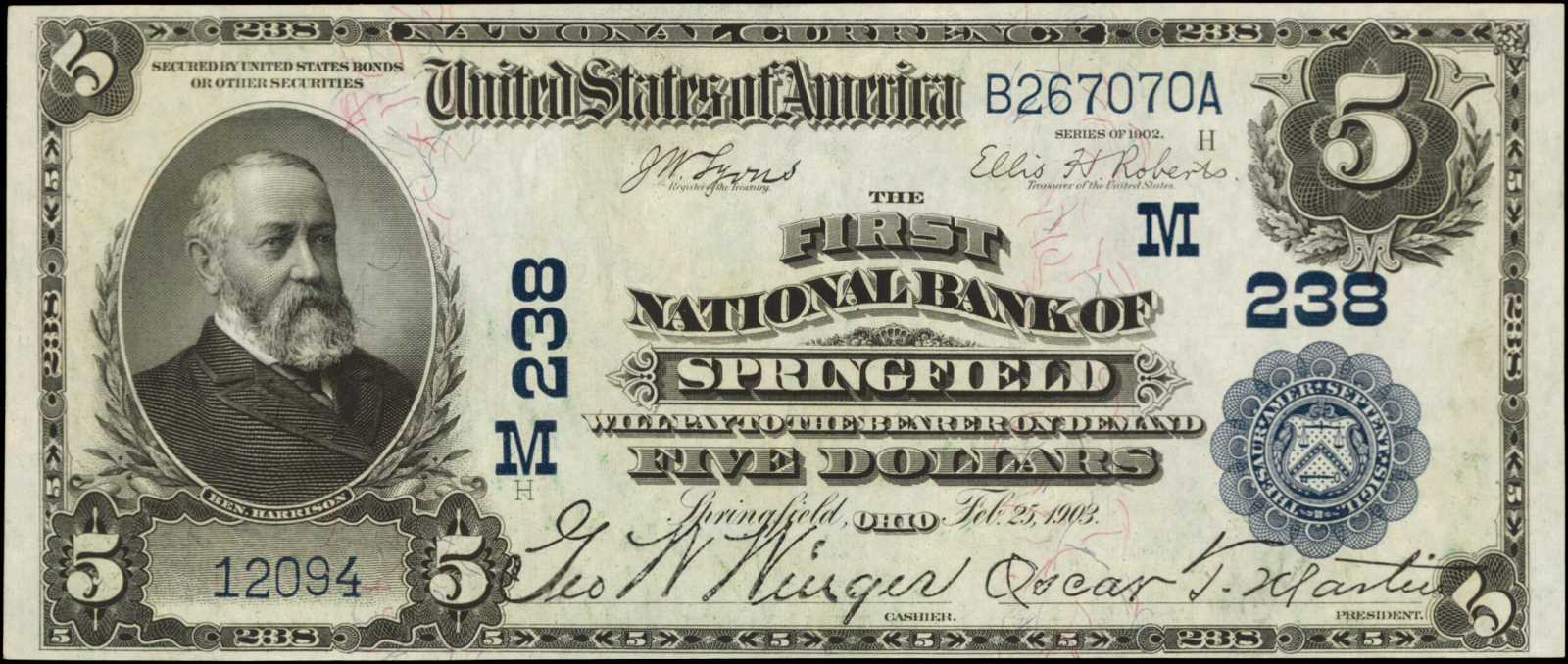 sample image for 1902 3rd Charter Period $5  Date Back 2nd Issue (Fr.# 590597TYPE) [Type]