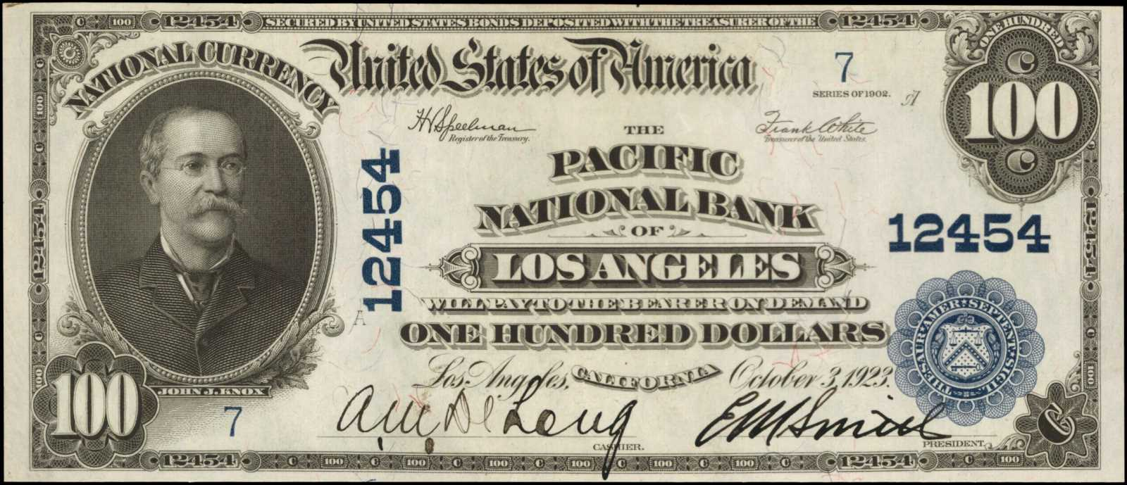 sample image for 1902 3rd Charter Period $100  Plain Back 3rd Issue (Fr.# 707)