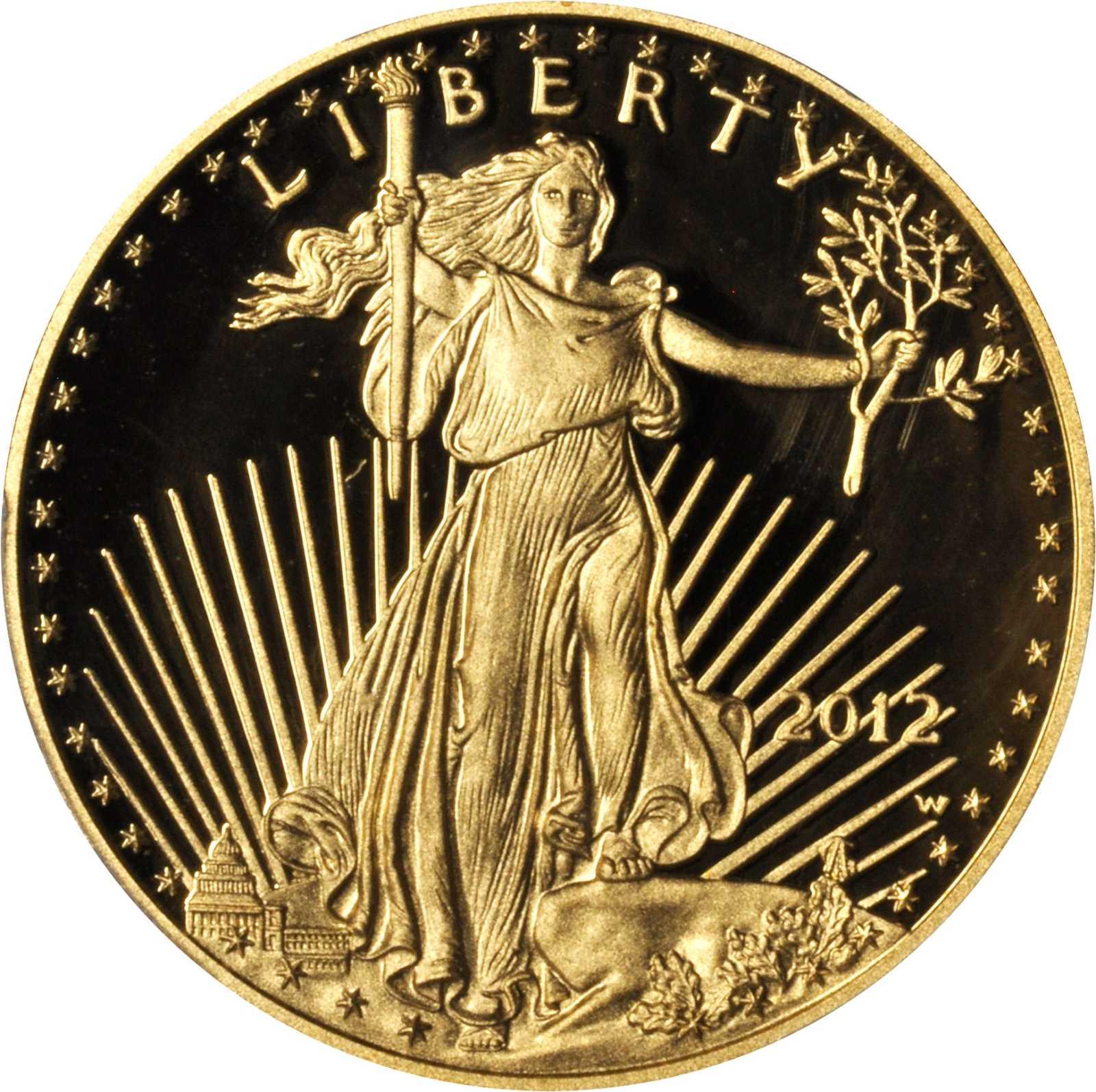 sample image for 2012-W Gold Eagle $50  PR DCAM