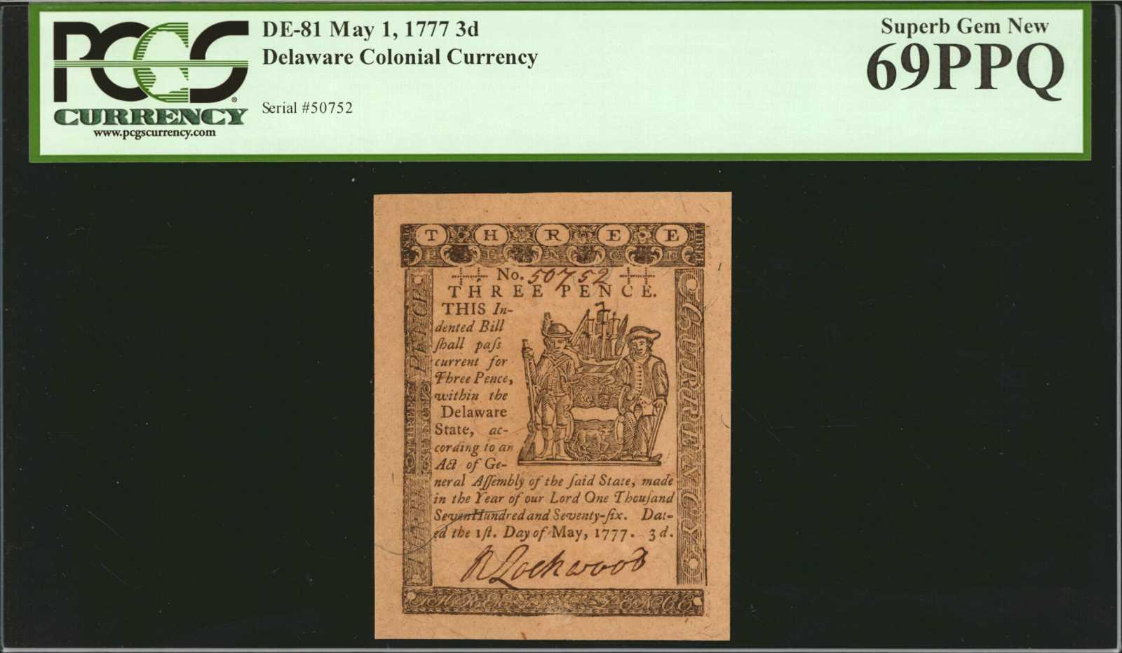 sample image for 1777 1-May 3d (Fr.# DE81)
