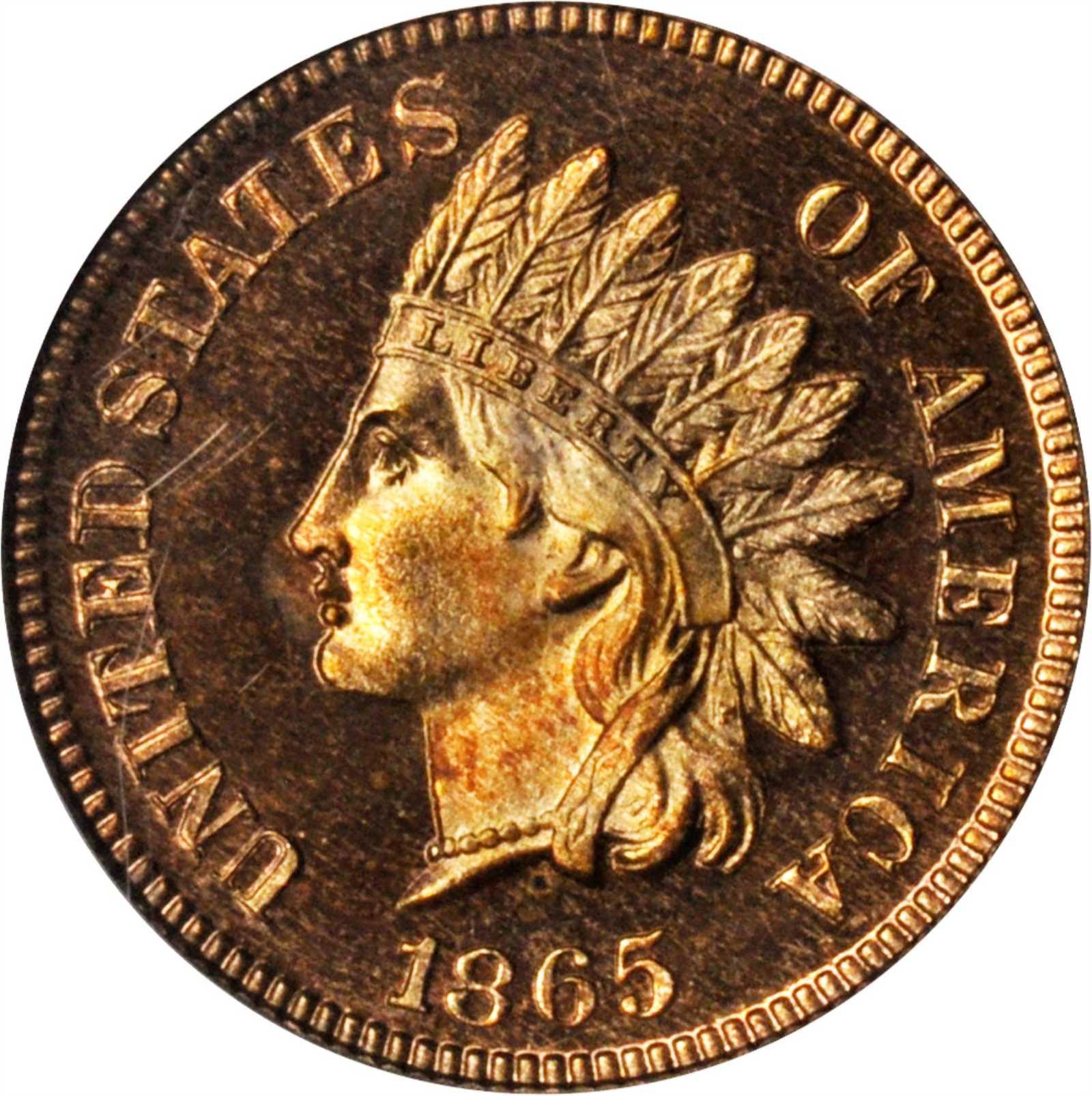 sample image for 1865 1c PR RD