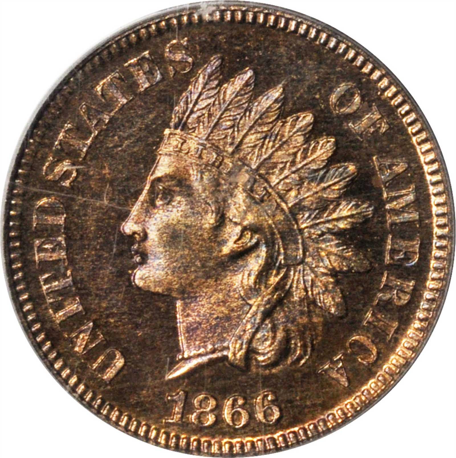 sample image for 1866 1c PR BN