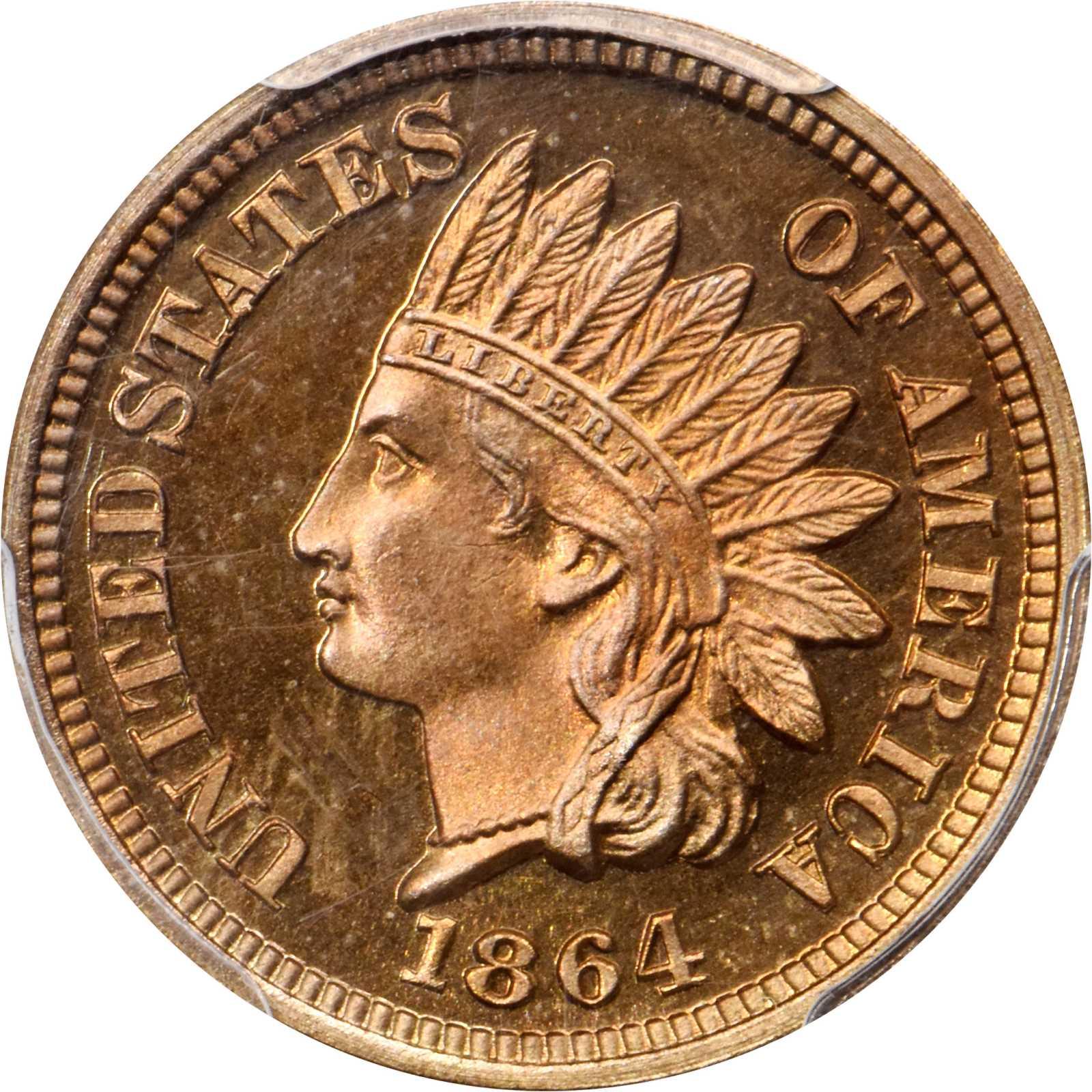 sample image for 1864 1c PR Copper Nickel