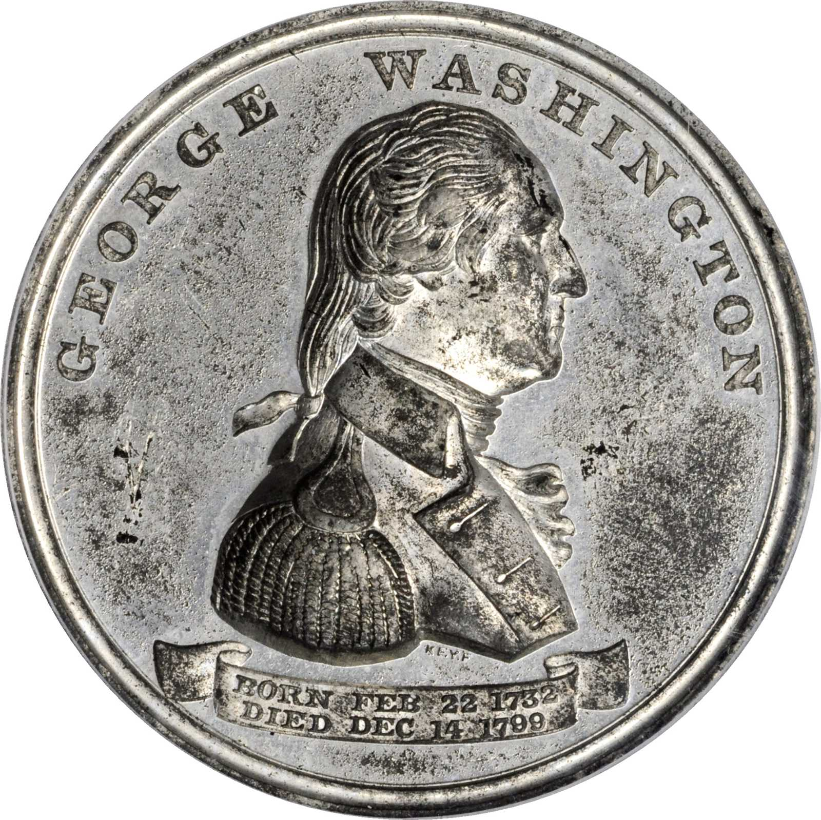 sample image for 1876 Independence Hall, White Metal SC$1 MS (HK-41)