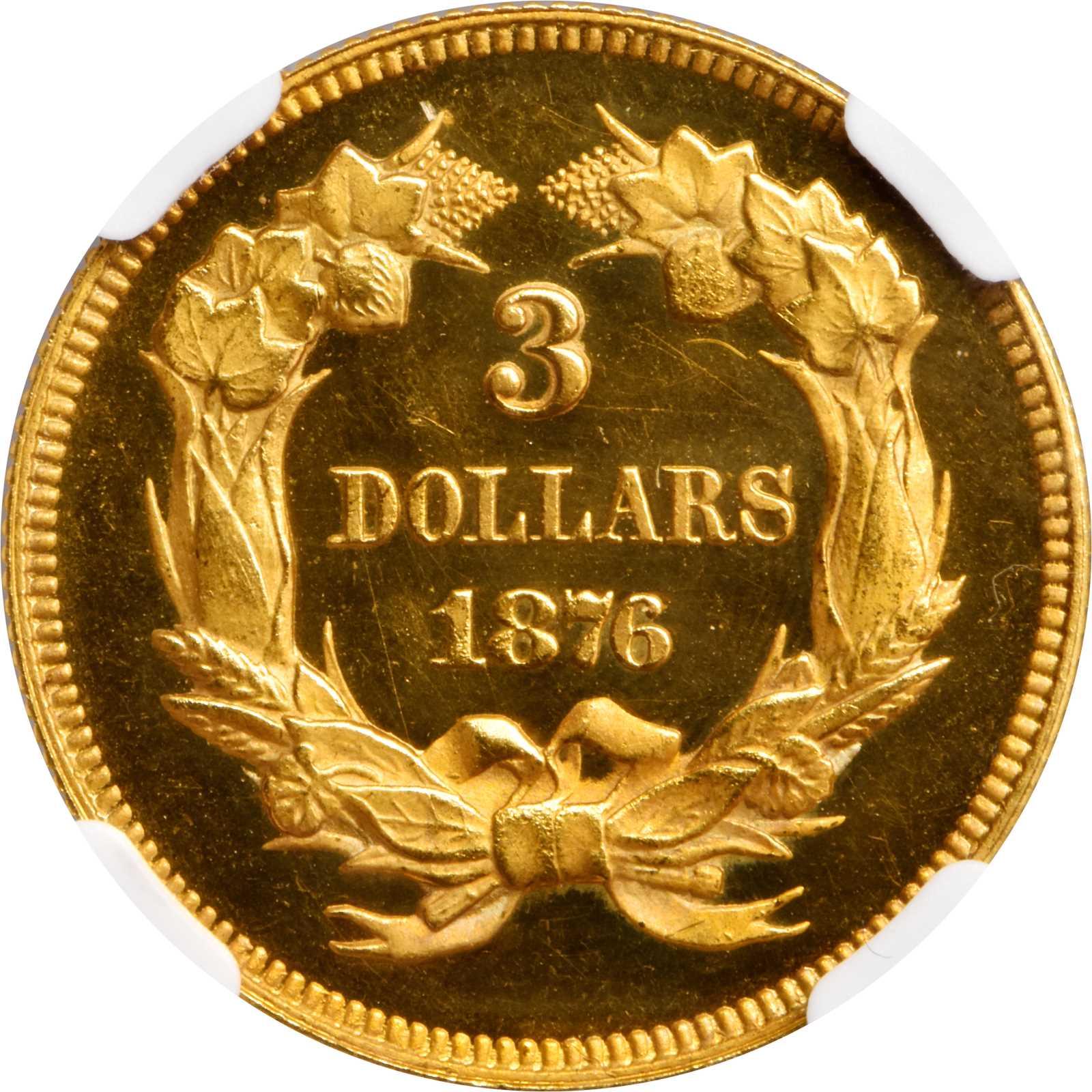 sample image for 1876 $3  PR DCAM
