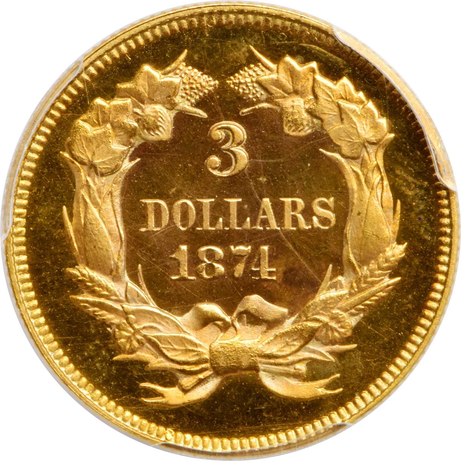 sample image for 1874 $3  PR CAM