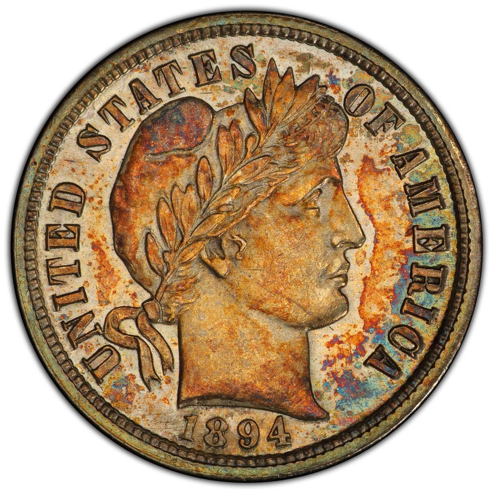 sample image for 1894-S Branch Mint 10c PR