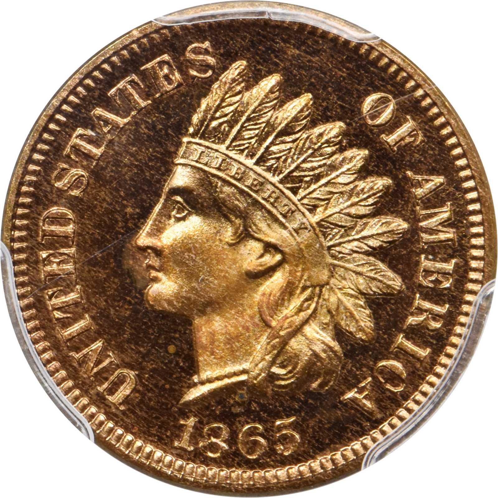 sample image for 1865 1c PR RD CAM