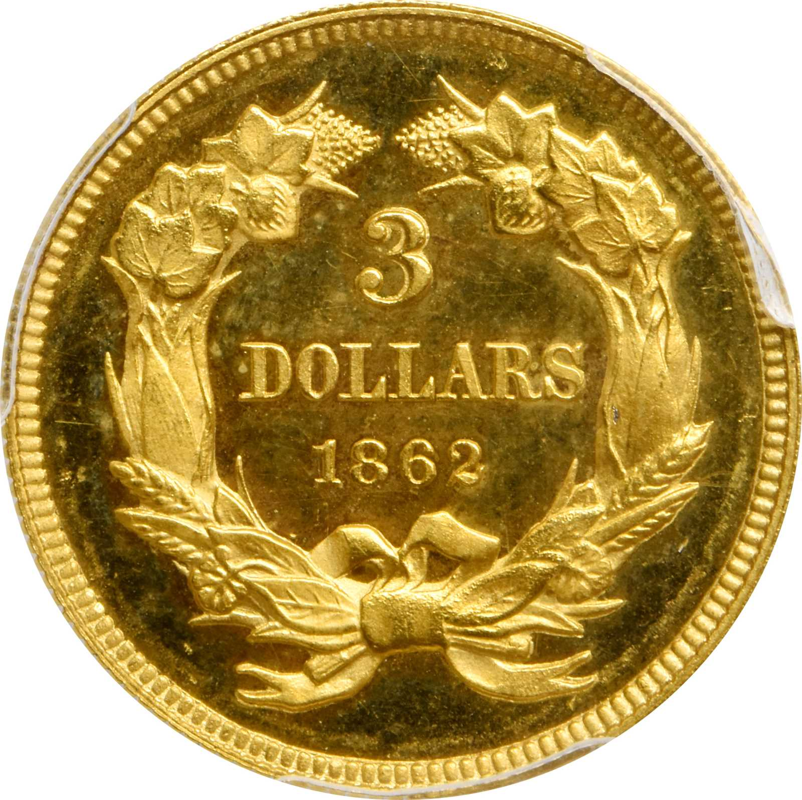 sample image for 1862 $3  PR CAM