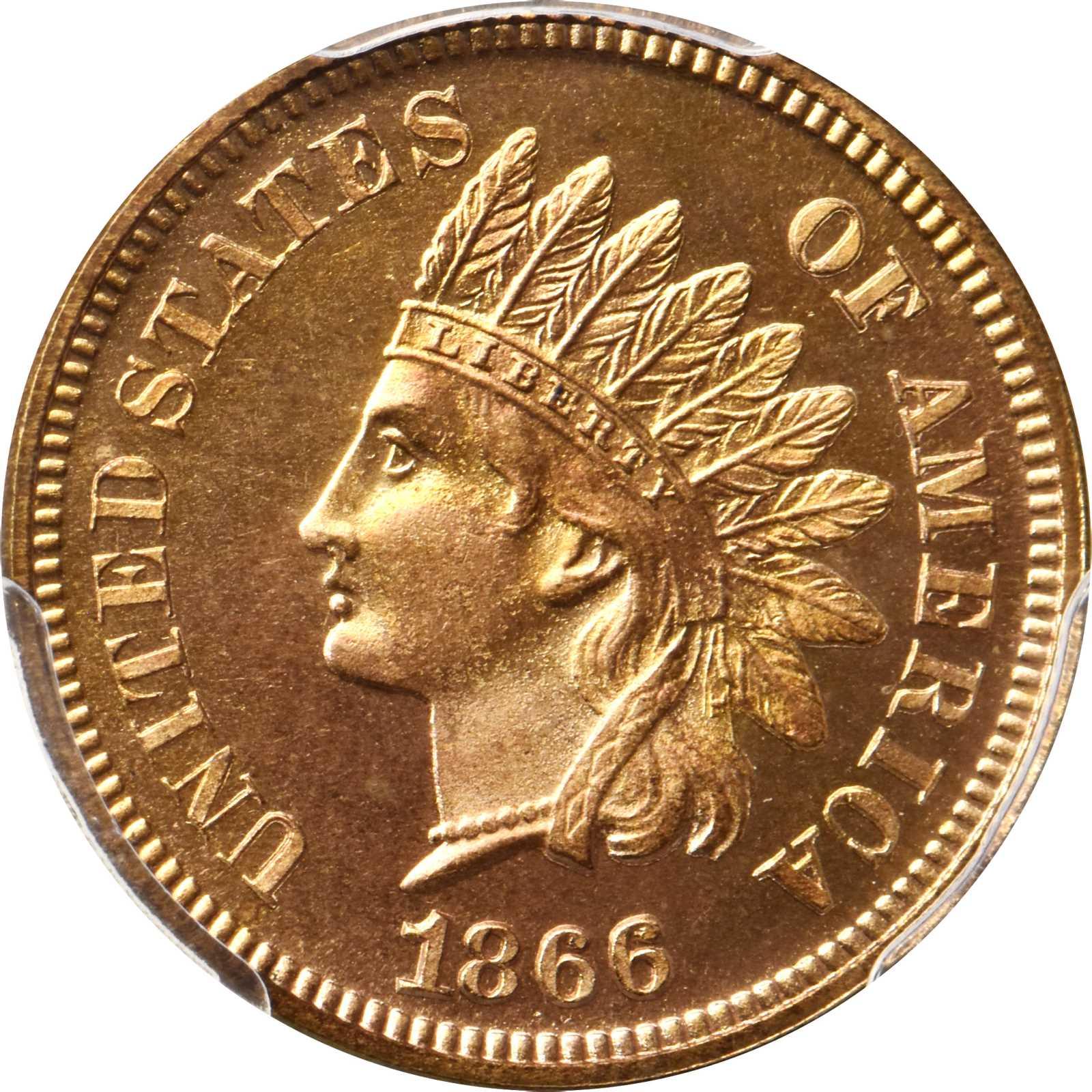 sample image for 1866 1c PR RD CAM