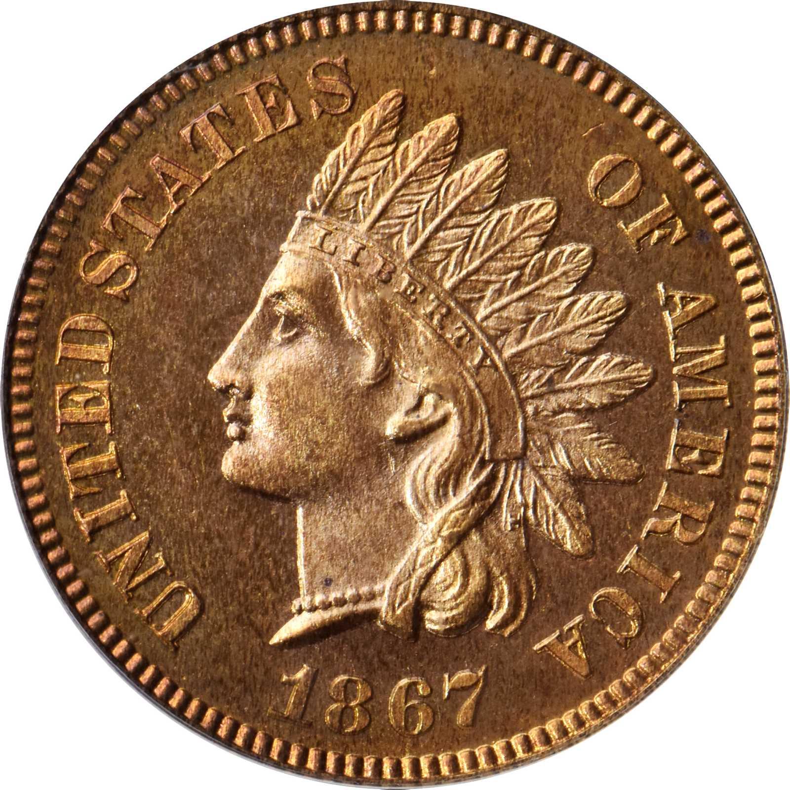 sample image for 1867 1c PR RD CAM