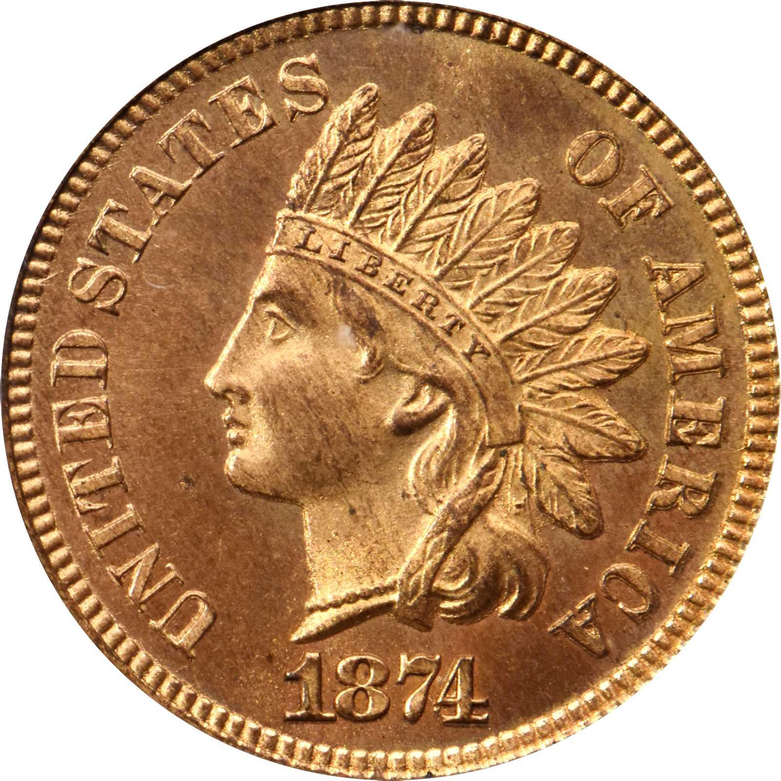 sample image for 1874 1c PR RD