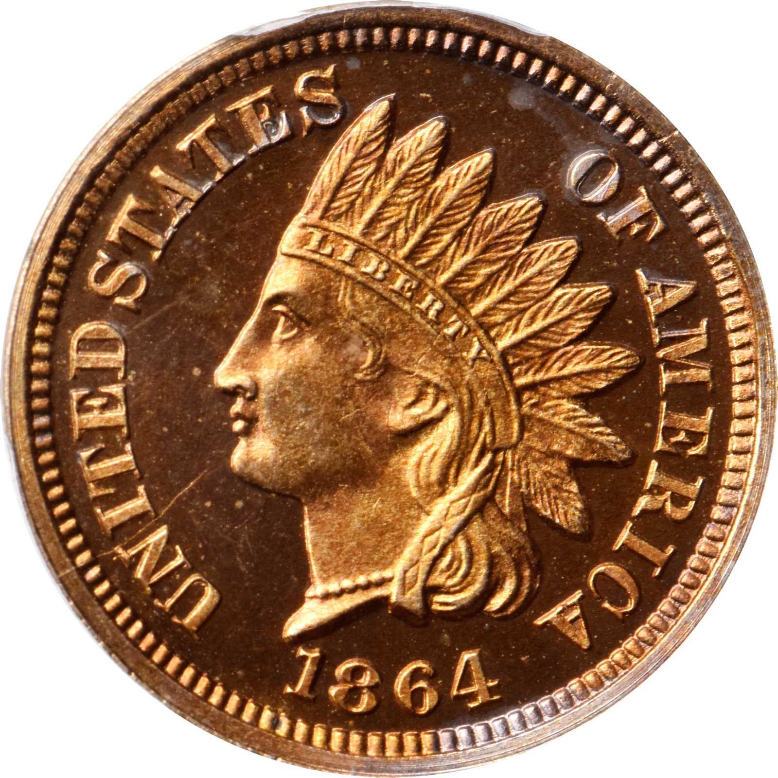 sample image for 1864 1c PR DCAM Copper Nickel