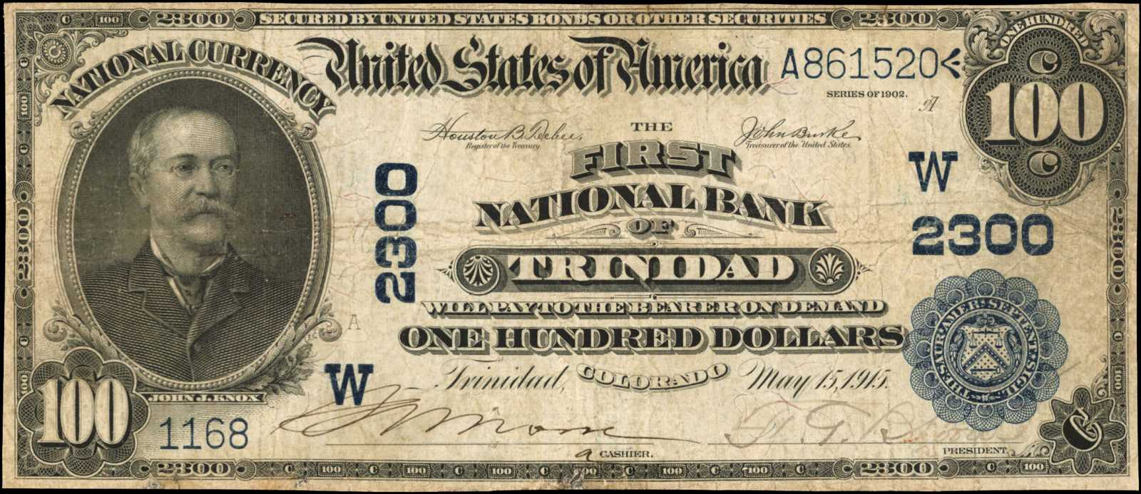 sample image for 1902 3rd Charter Period $100  Date Back 2nd Issue (Fr.# 697)
