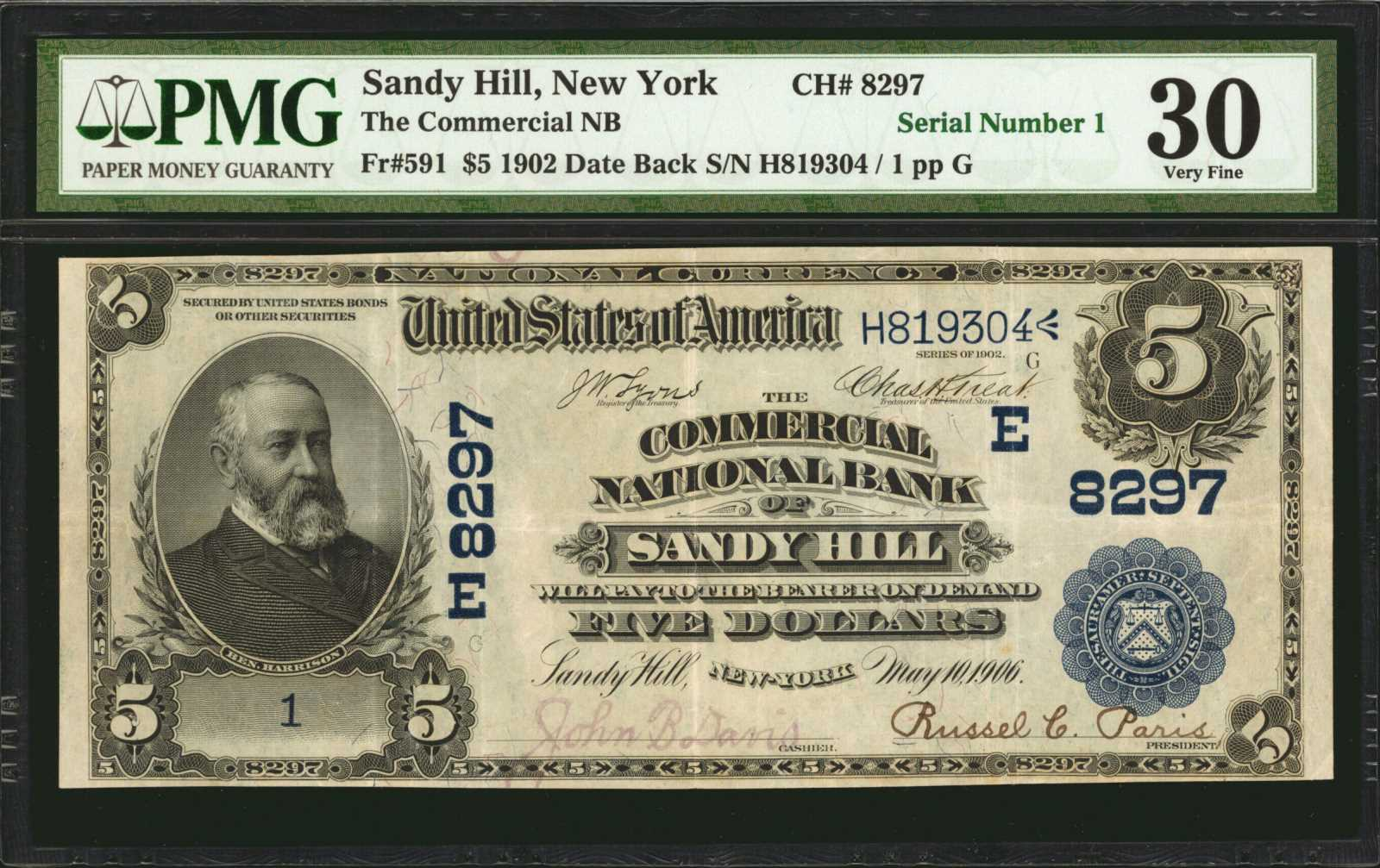 sample image for 1902 3rd Charter Period $5  Date Back 2nd Issue (Fr.# 591)