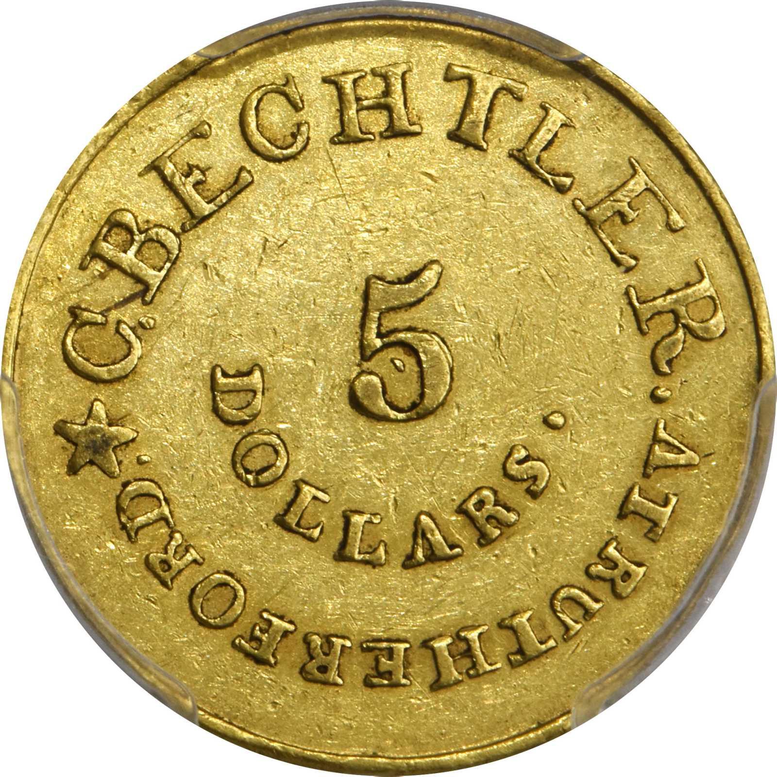 sample image for C.Becht $5 GEORGIA, 128 GR, 22C (K-22)
