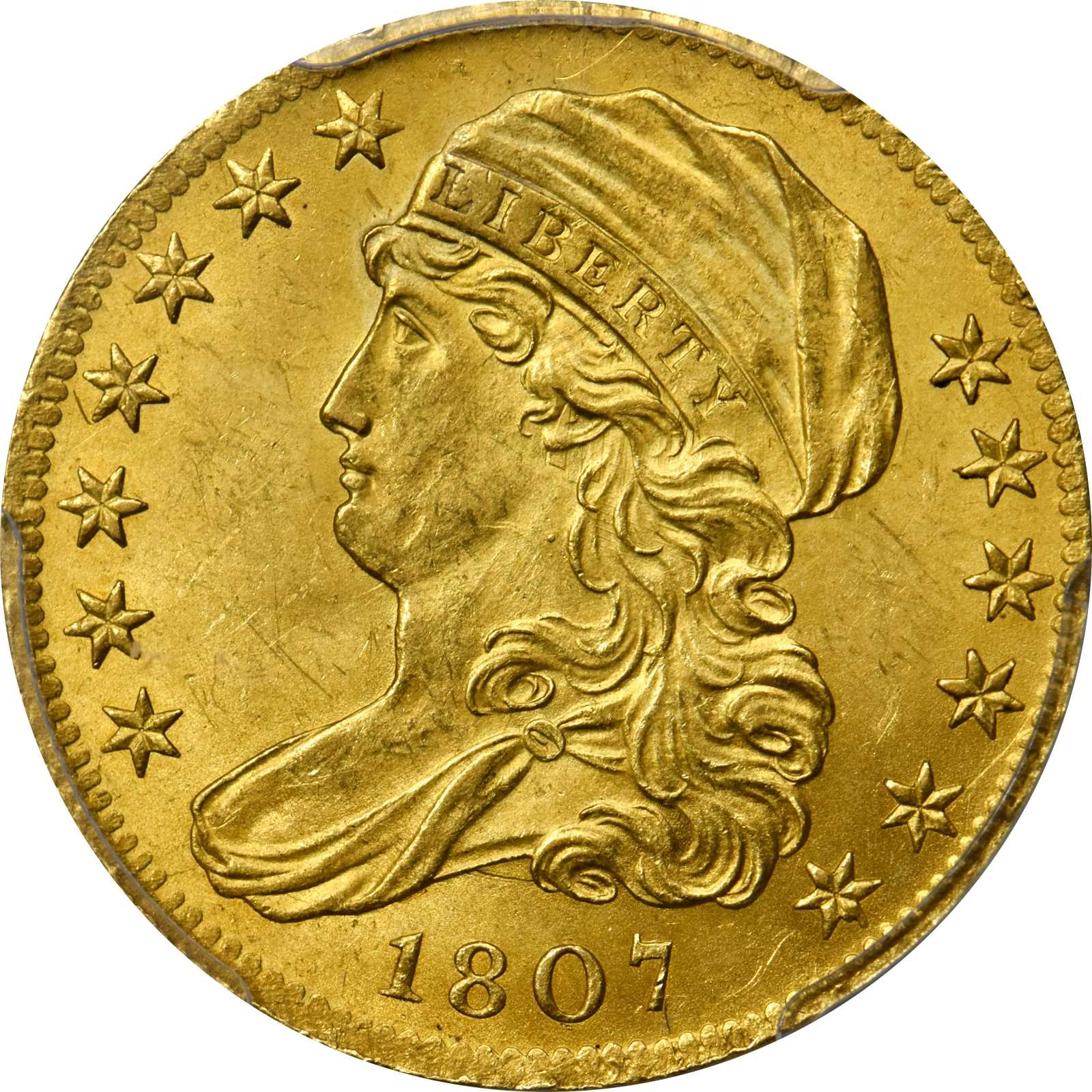 sample image for 1807 $5  MS Bust facing Left