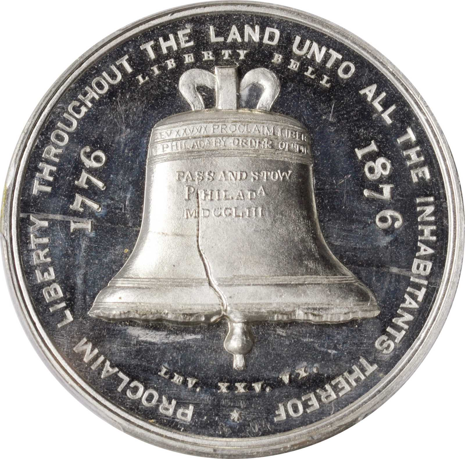 sample image for 1876 Liberty Bell, White Metal SC$1 MS (HK-26)