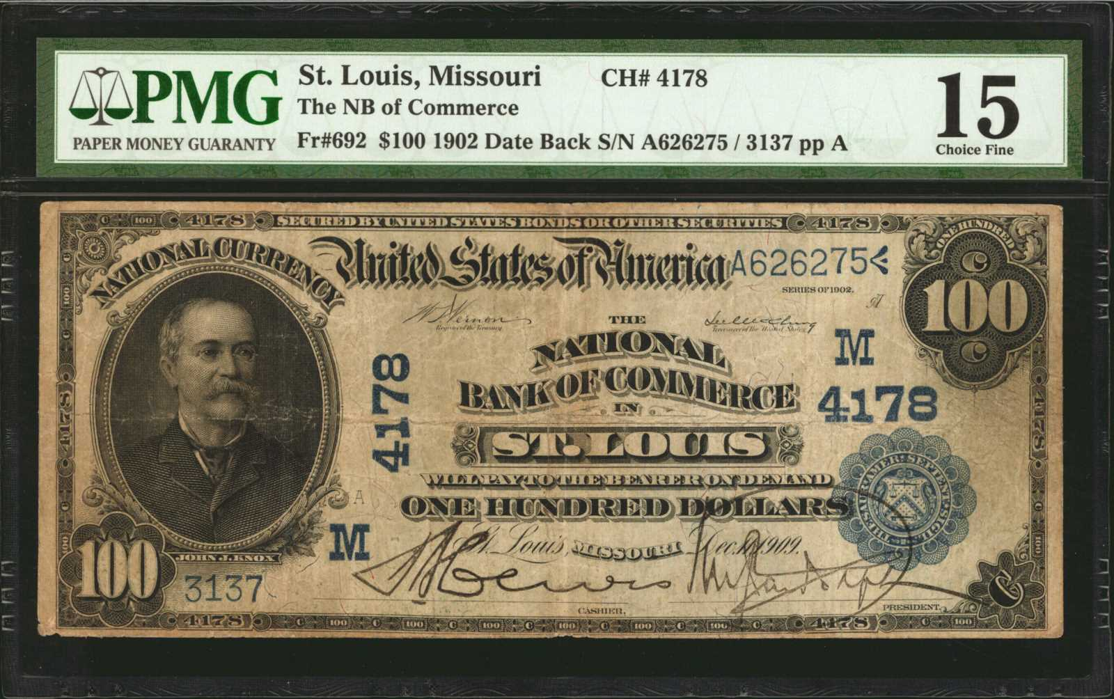sample image for 1902 3rd Charter Period $100  Date Back 2nd Issue (Fr.# 692)