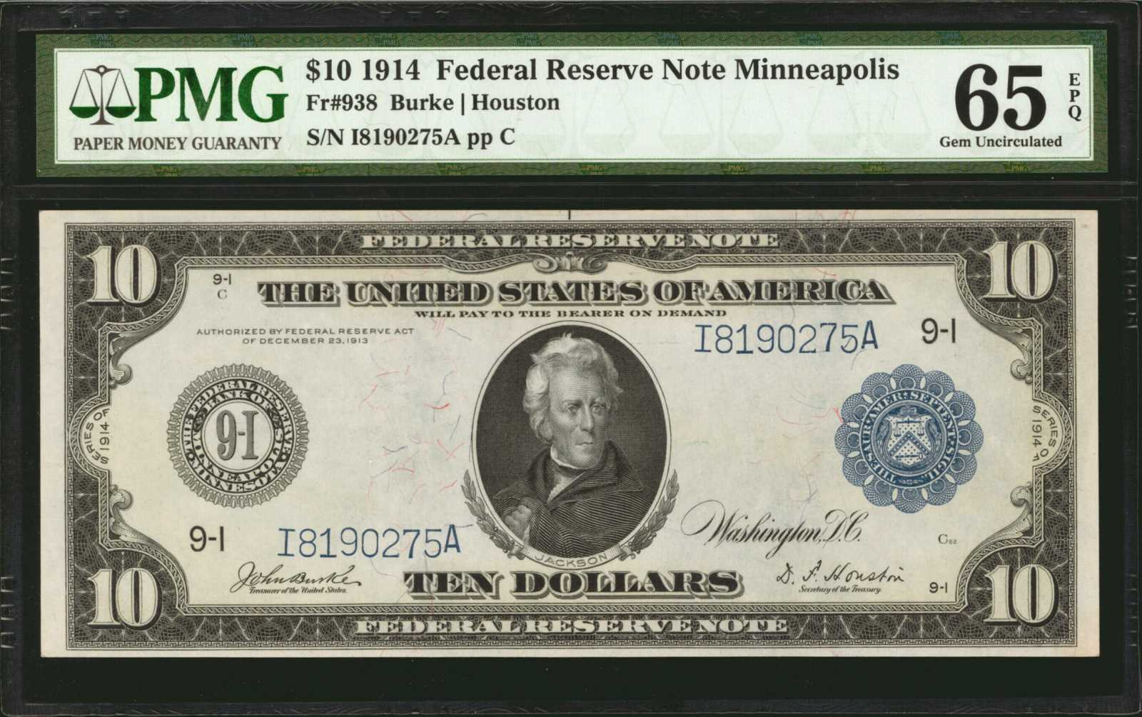 sample image for Fr.938 $10 Minneapolis