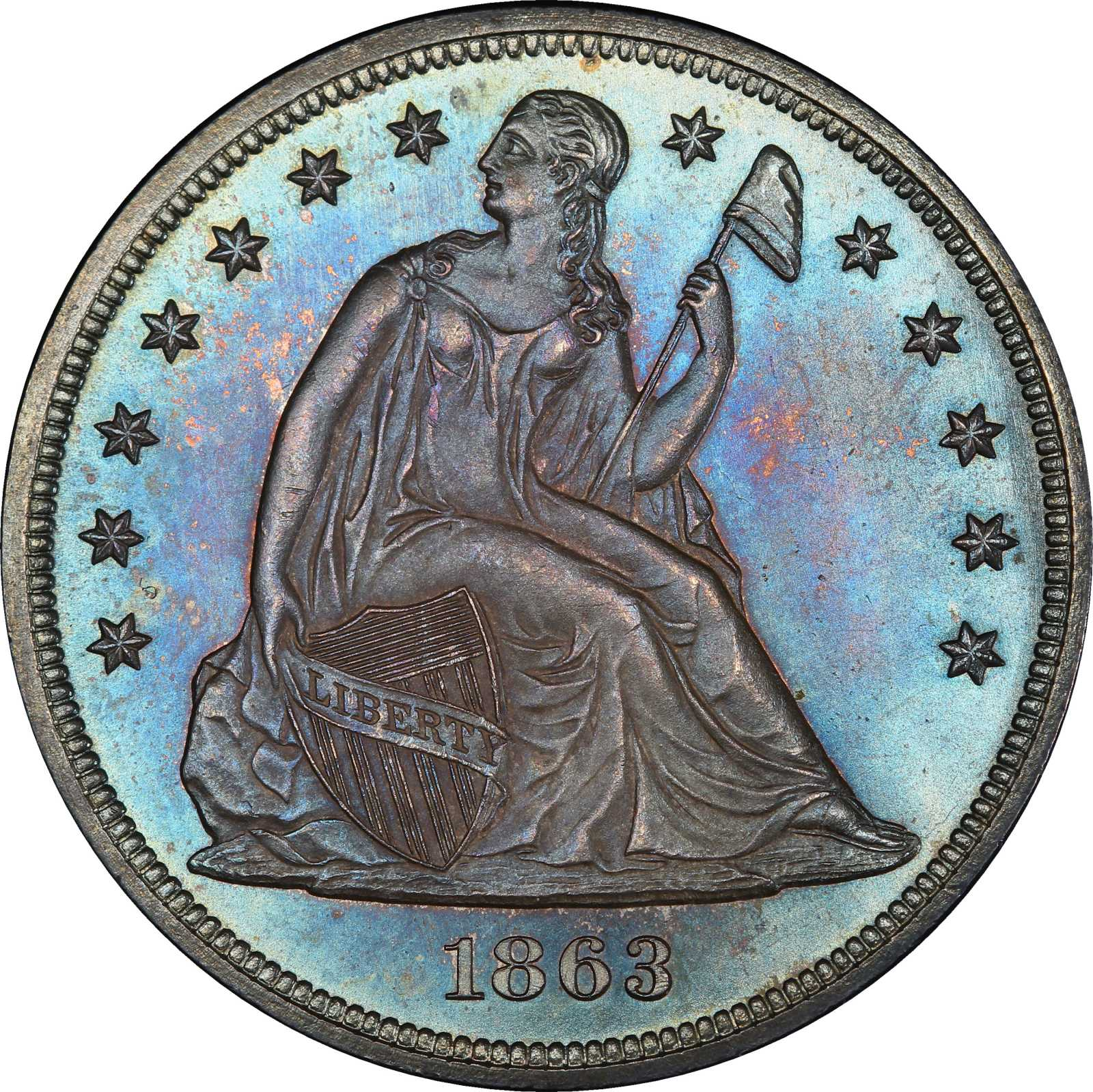 sample image for 1863 $1  MS